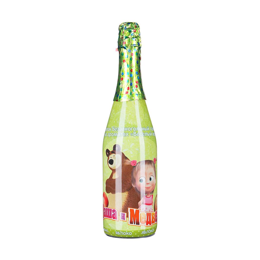 Напиток газированный Маша и Медведь яблоко 0,75 л