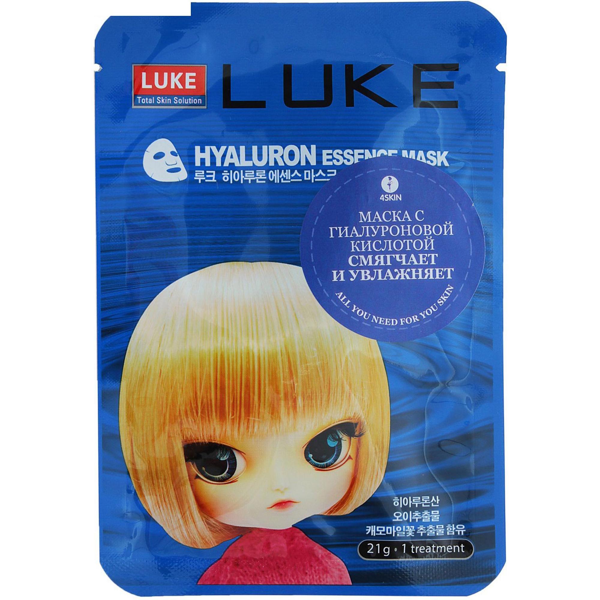 Маска для лица Luke Hyaluron Essence Mask с гиалуроновой кислотой 21 г.