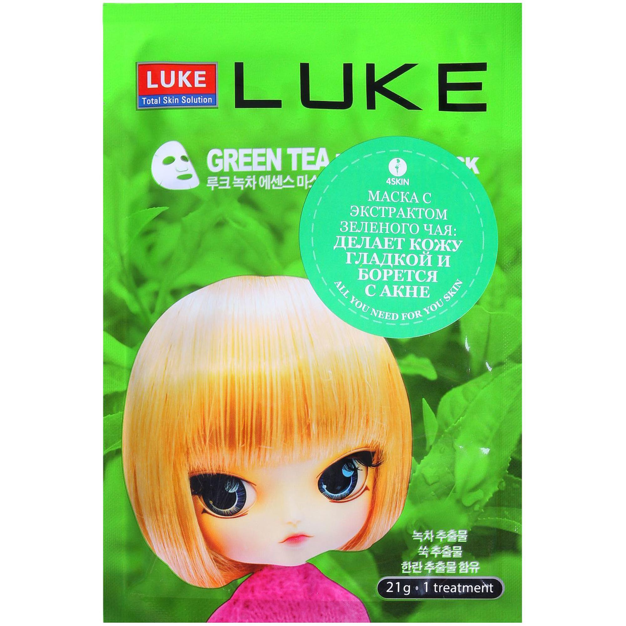 Маска для лица Luke Green Tea Essence Mask 21 г.