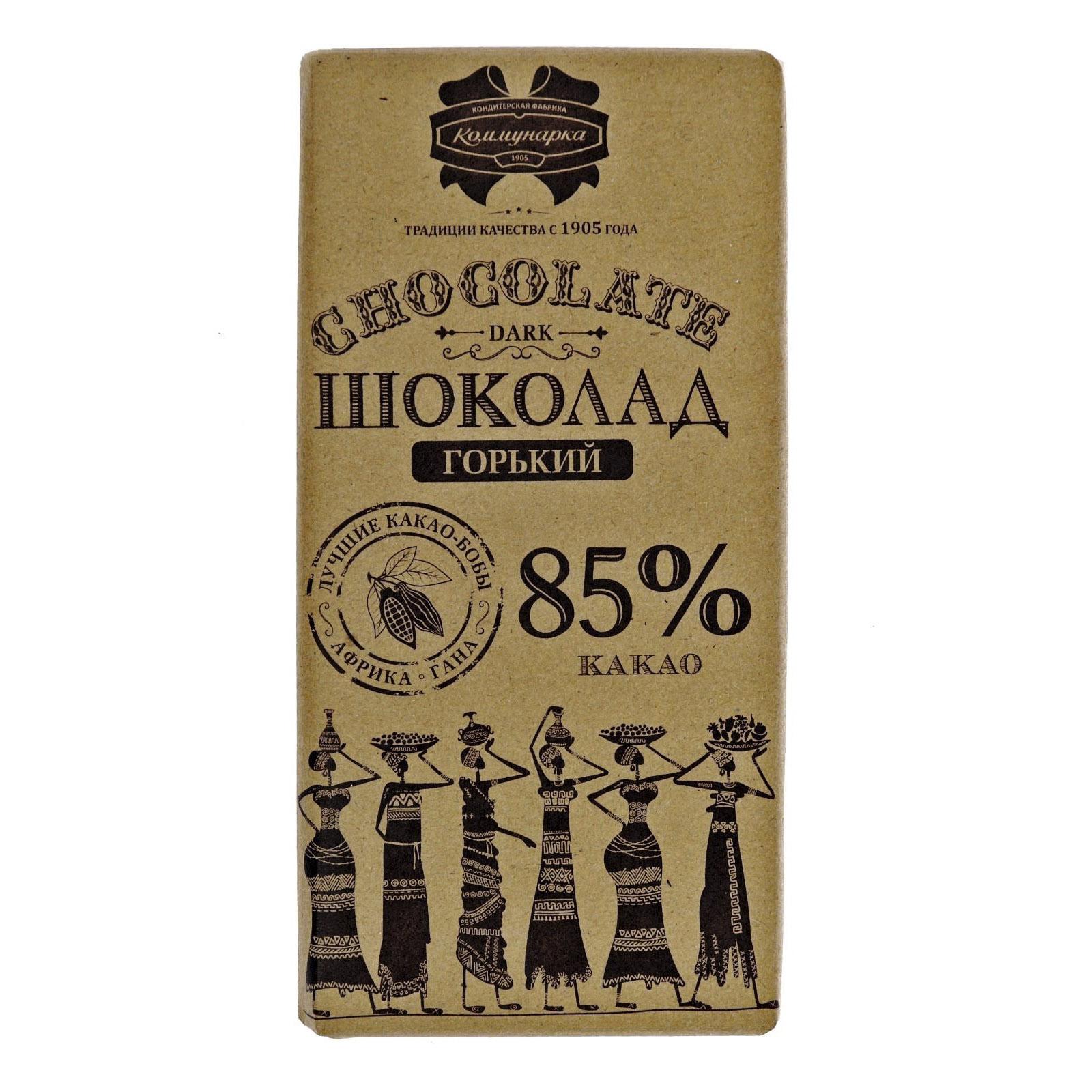 шоколад коммунарка горький десертный 85% 90 г Шоколад Коммунарка горький десертный 85% 90 г