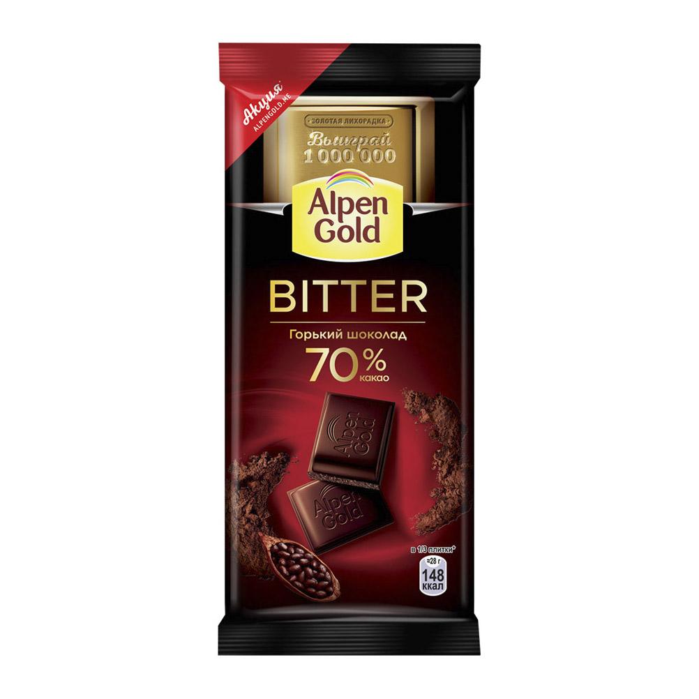 шоколад коммунарка горький десертный 85% 90 г Шоколад Alpen Gold Bitter горький 70% 85 г