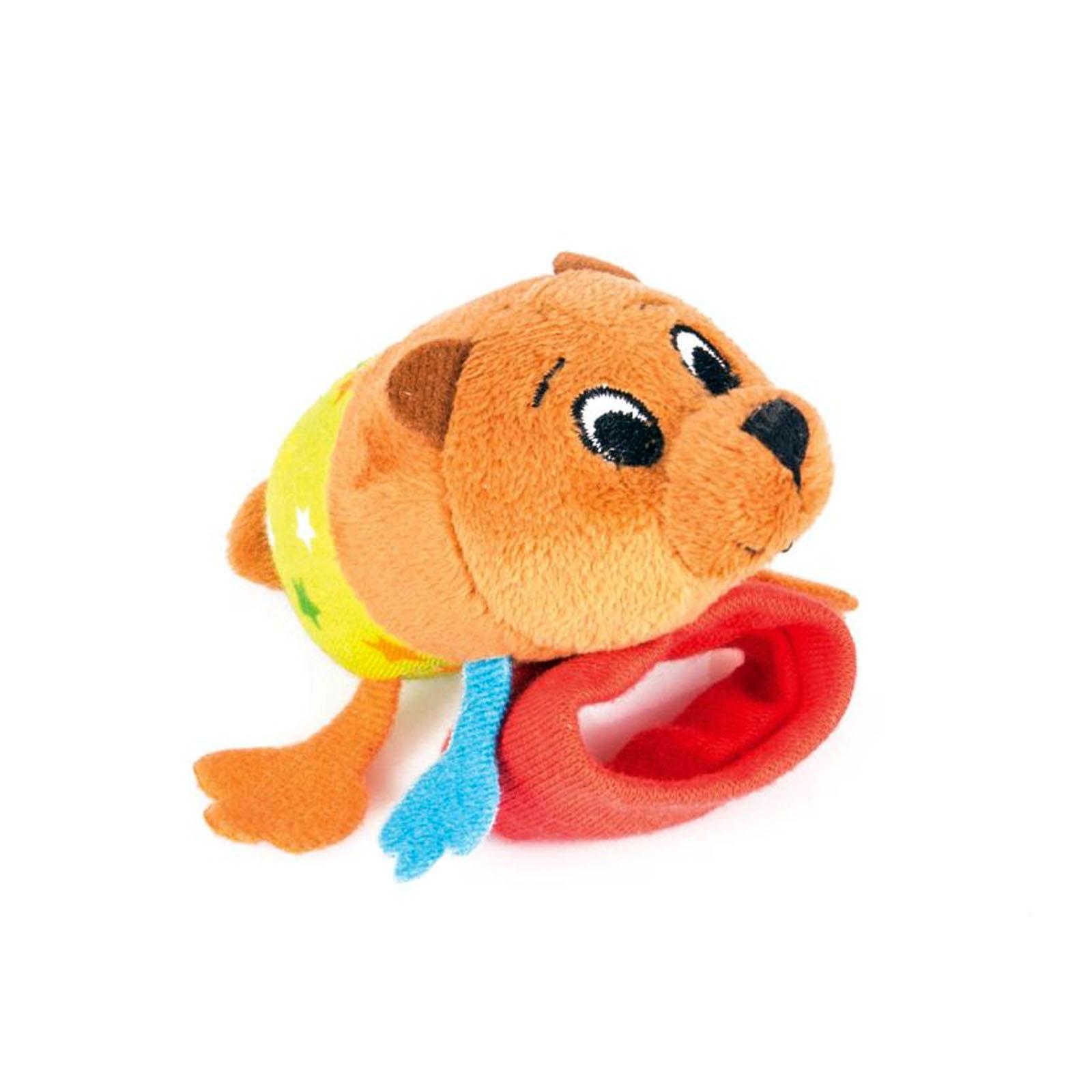 Фото - Погремушка на ручку медвежонок берни Happy snail 14HSB01BE игрушка погремушка happy snail хруми 17hst02hr