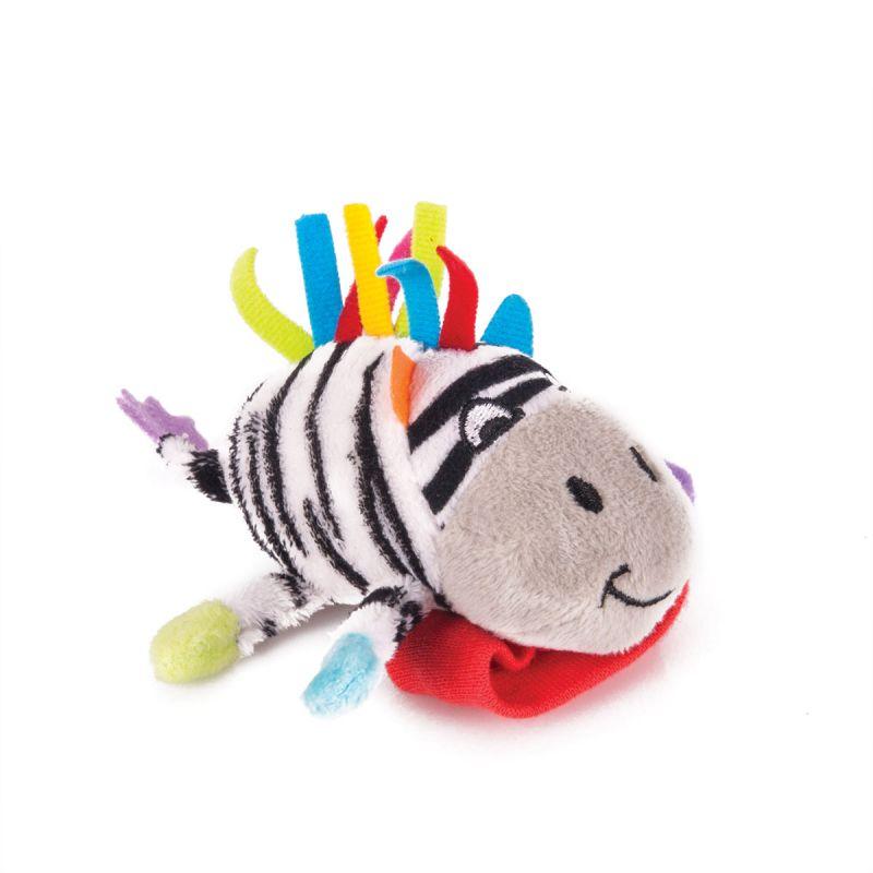 Фото - Погремушка на ручку зебра фру-фру Happy snail 14HSB06FR игрушка погремушка happy snail хруми 17hst02hr