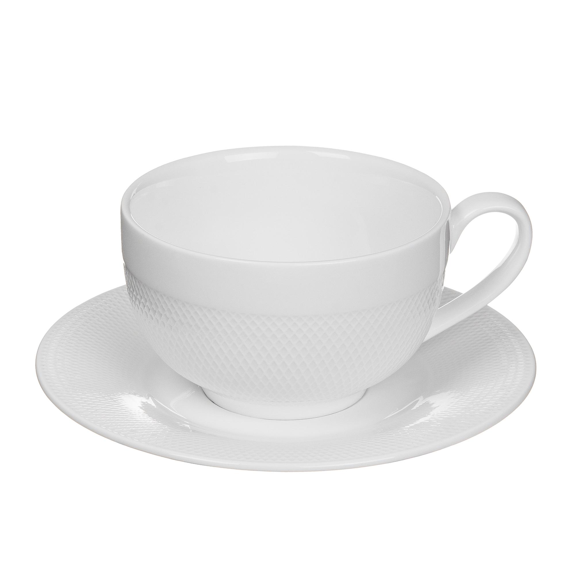 Пара кофейная чашка + блюдце 230 мл Tudor TUC1062-4