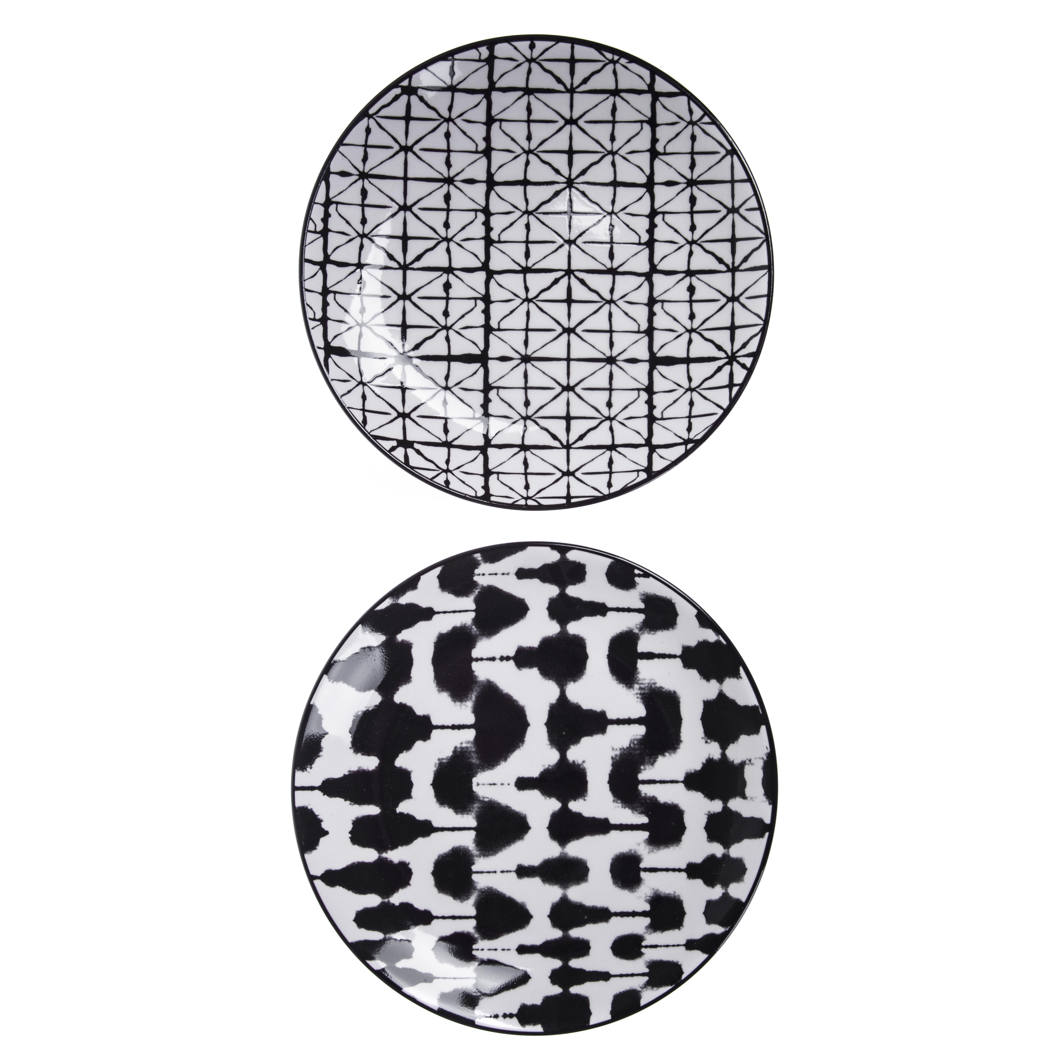 Набор тарелок Asa selection Blurred & grid 2 шт grid