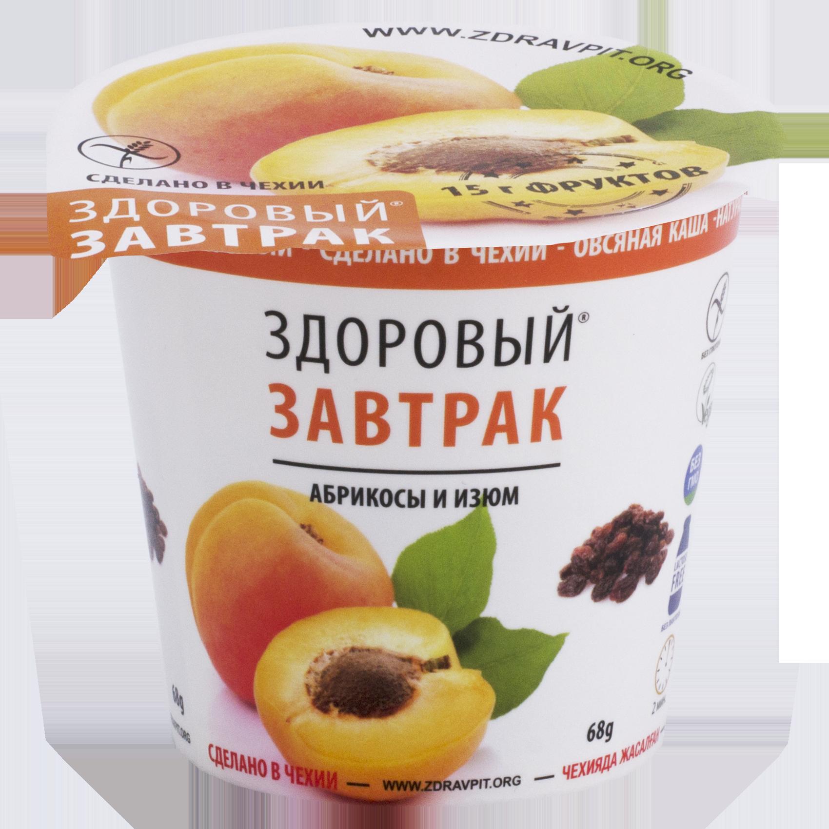 Каша Здоровый завтрак абрикос, изюм 68 г фото