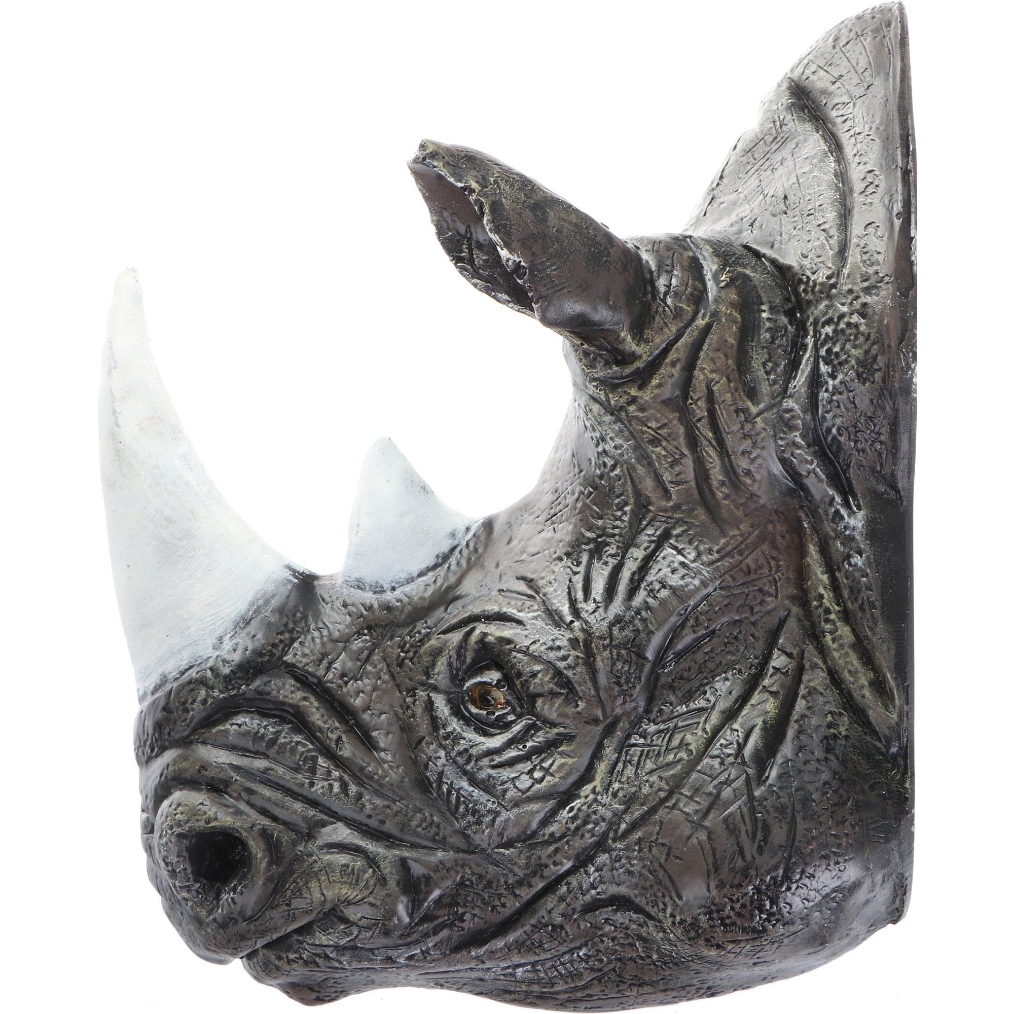 Фигура садовая Тпк полиформ голова носорога, 45 см