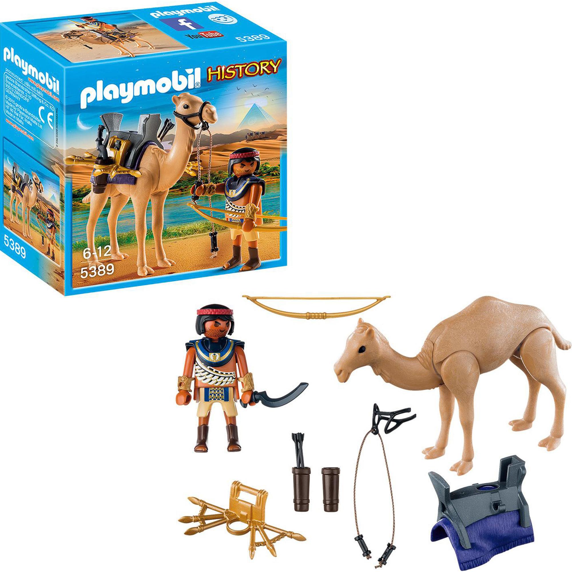 Фото - Игровой набор Playmobil Египетский воин с верблюдом playmobil игровой набор фермер с домашними животными