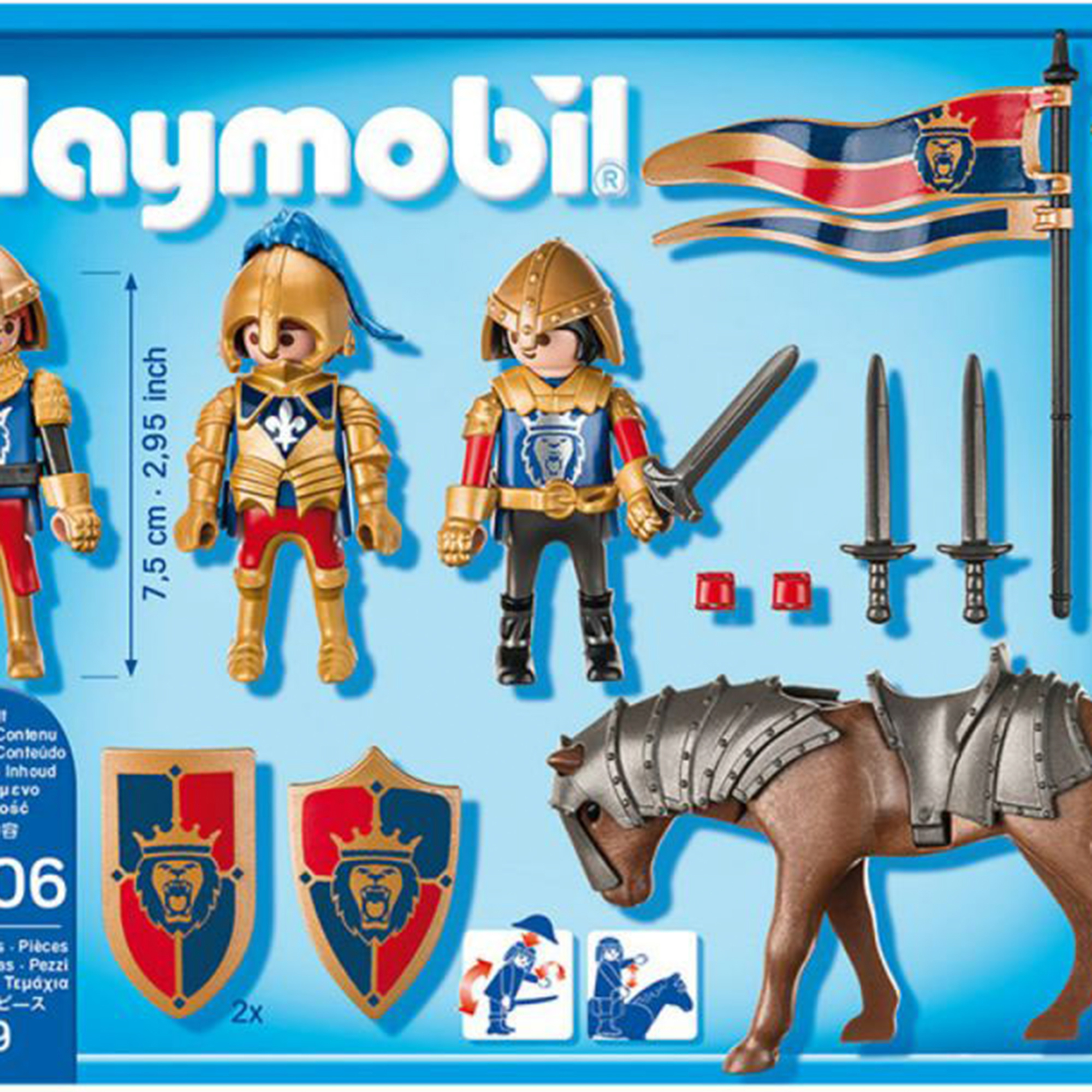 Фото - Игровой набор Playmobil Рыцари Королевские рыцари Львы playmobil игровой набор фермер с домашними животными