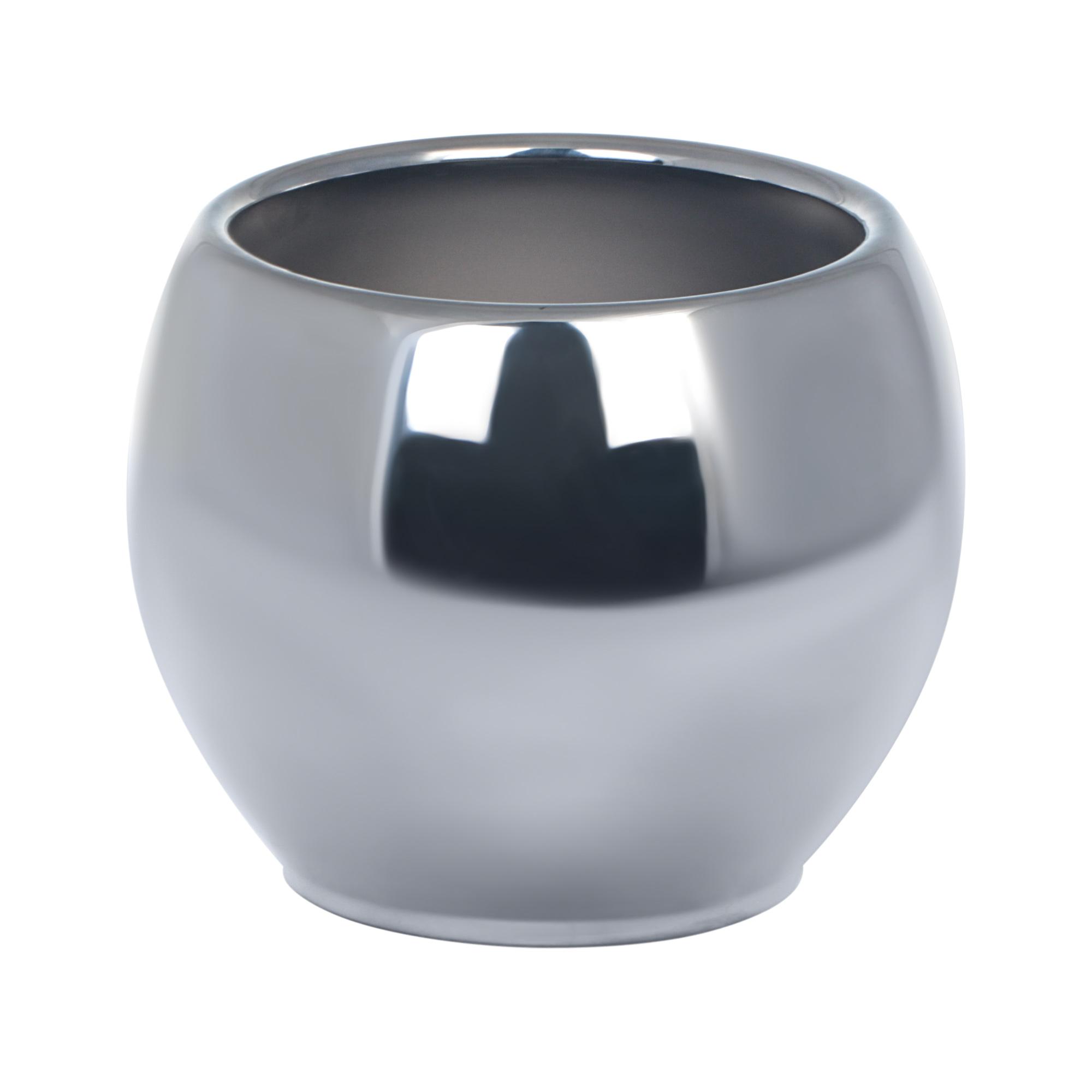 Купить Кашпо Soendgen alberta metallic d15 серебристое, кашпо, Китай, глина натуральная