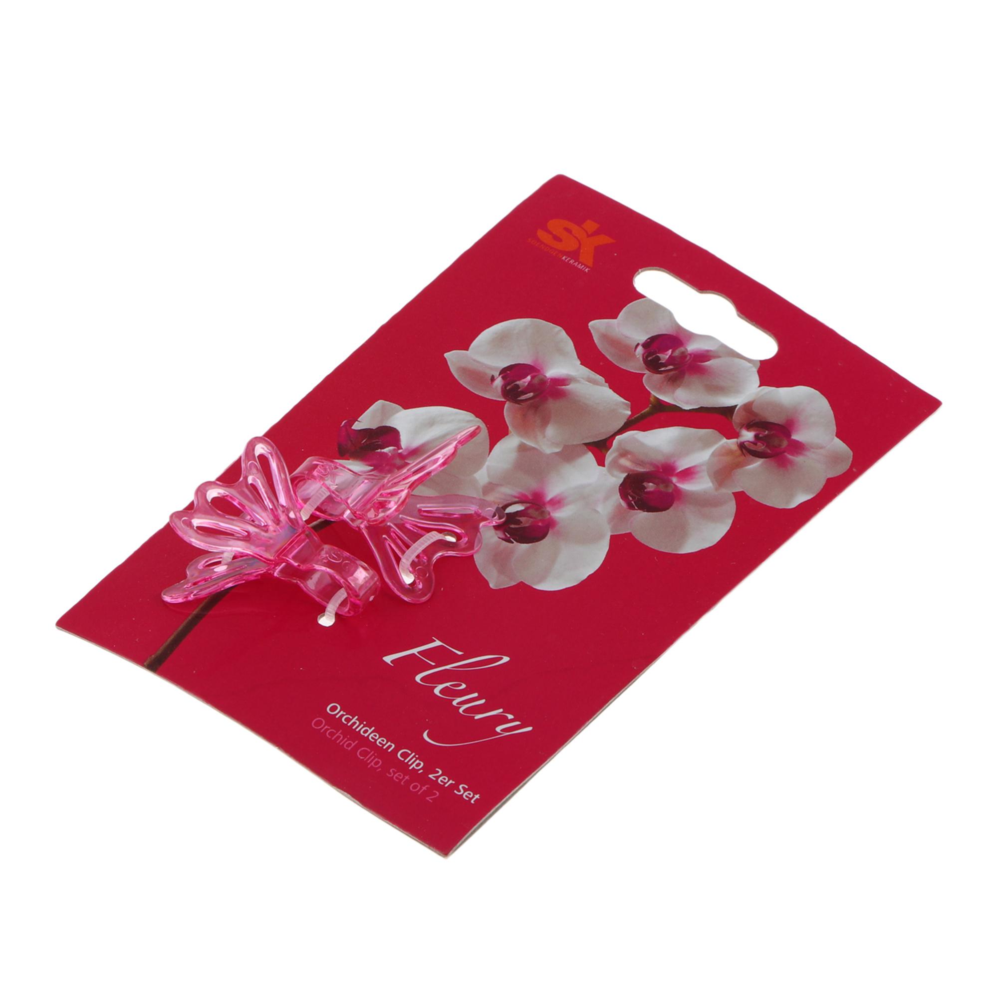 Фото - Клипсы для орхидей Soendgen fleury 2шт розовые бигуди розовые из высококачественного мягкого пластика 2шт уп