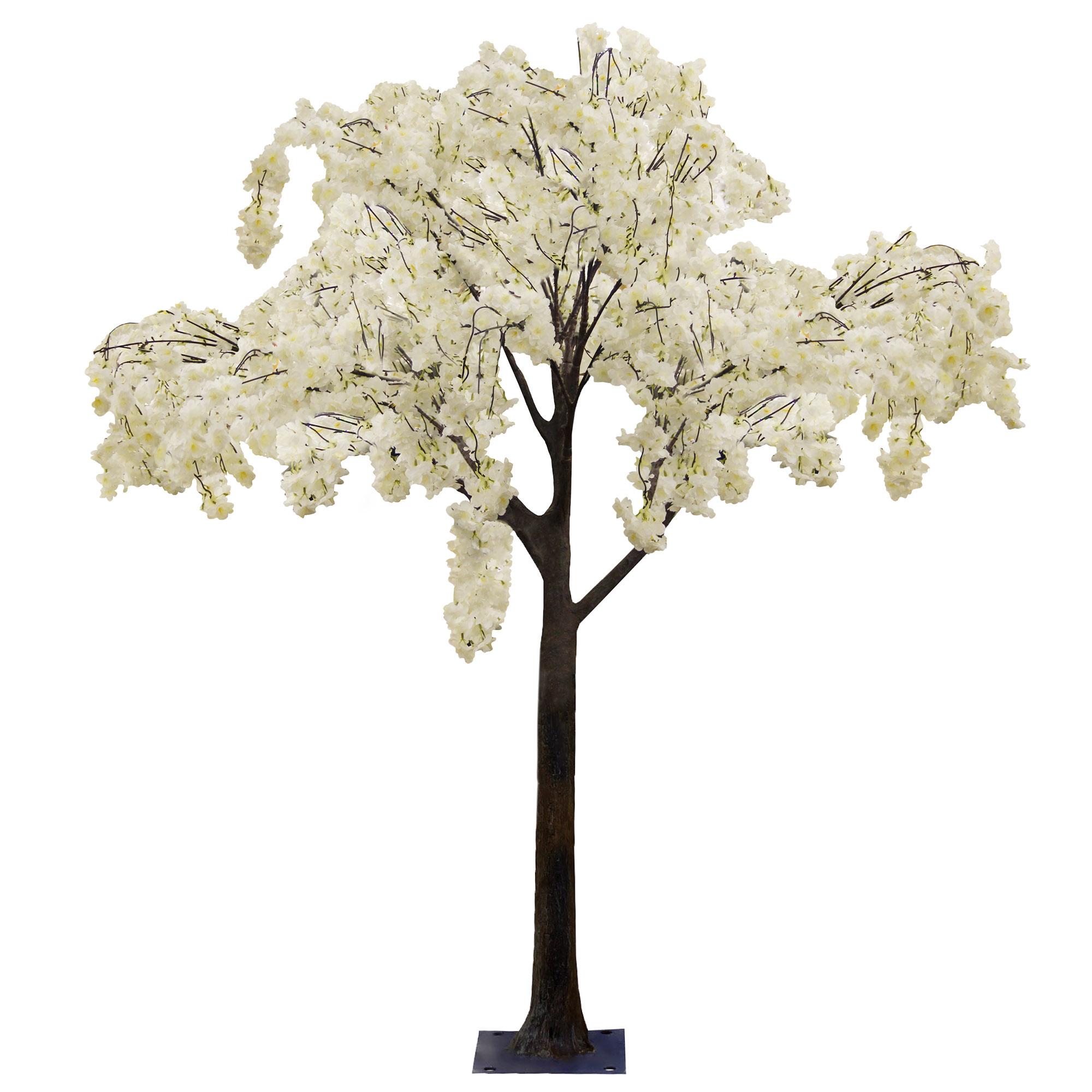 Дерево искусственное цветущее  Beijing shenglin 1.9м белого цвета