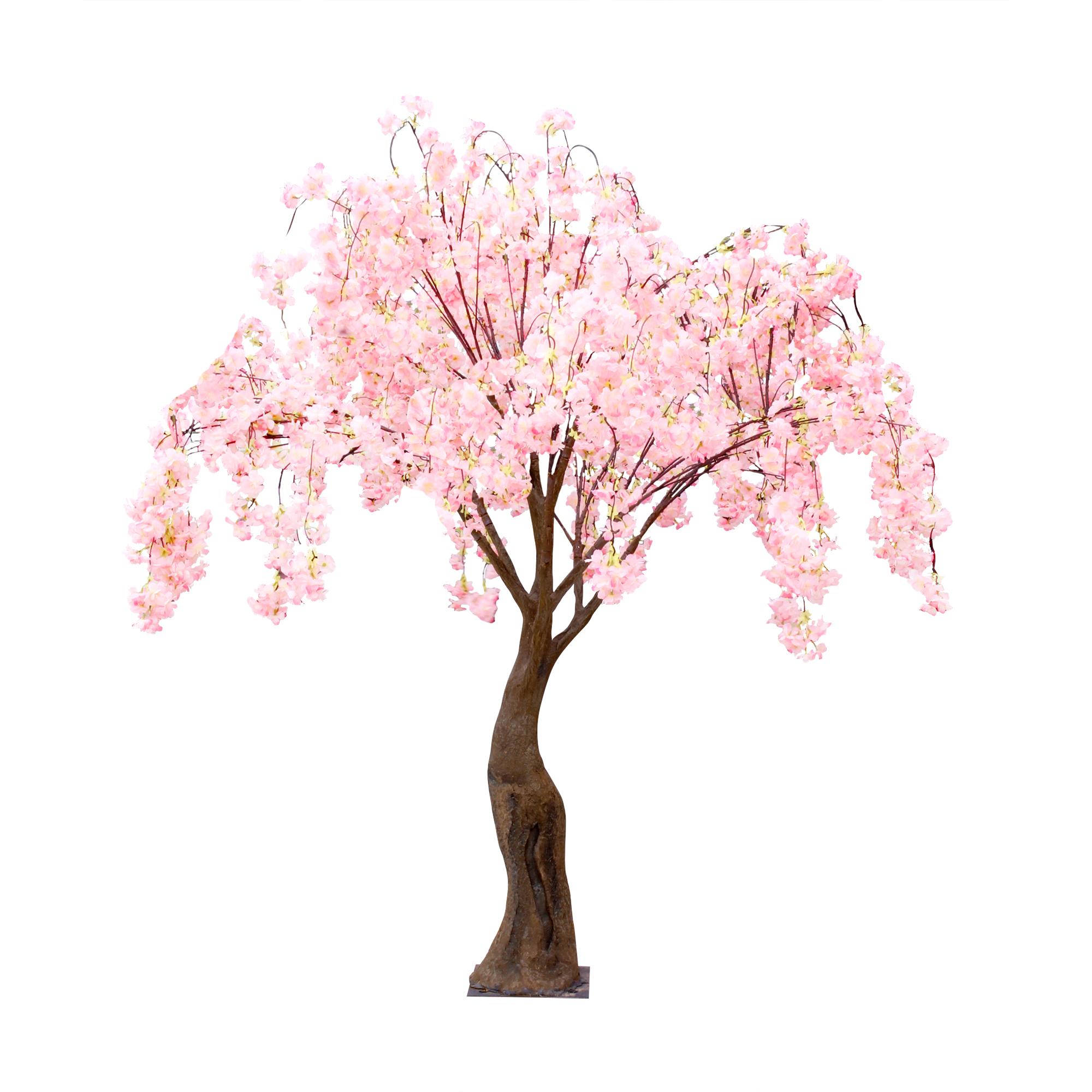 Дерево искусственное цветущее  Beijing shenglin 1.9м нежно-розового цвета