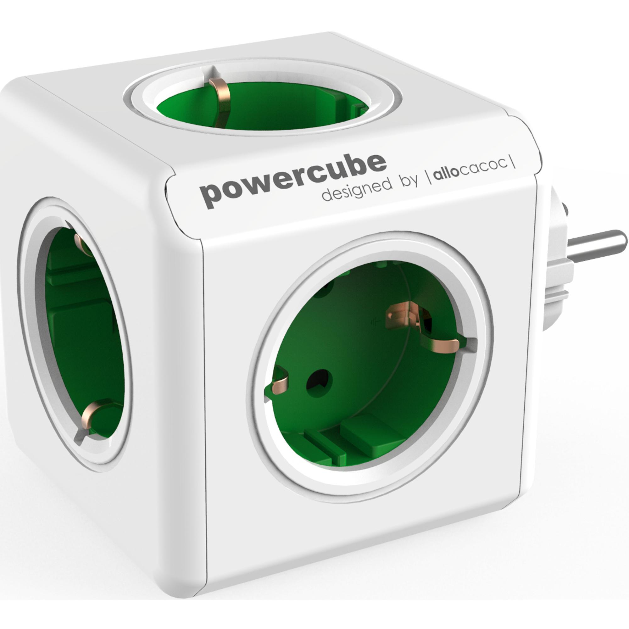 Фото - Разветвитель Allocacoc PowerCube Original зеленый разветвитель allocacoc powercube extended usb серый