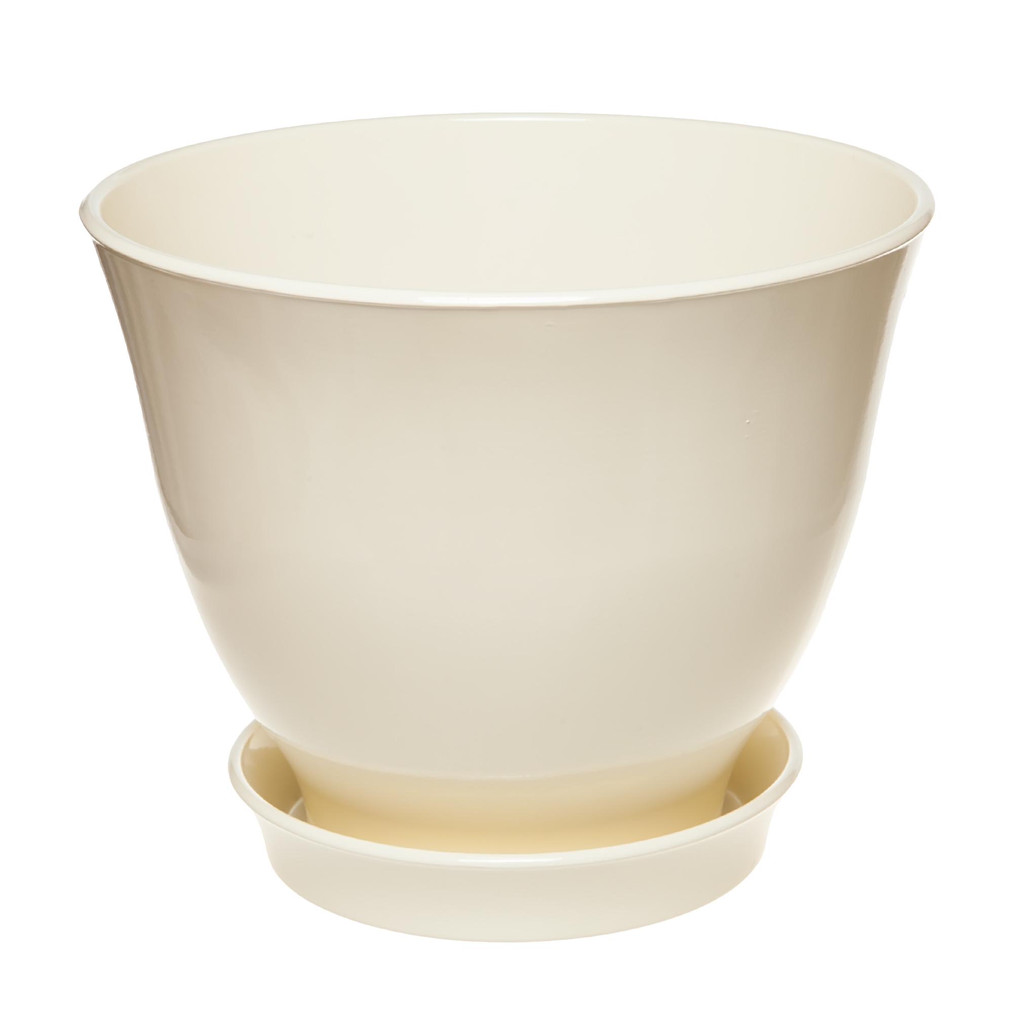 Горшок Элитная керамика Ксения глянец молочный 21 см