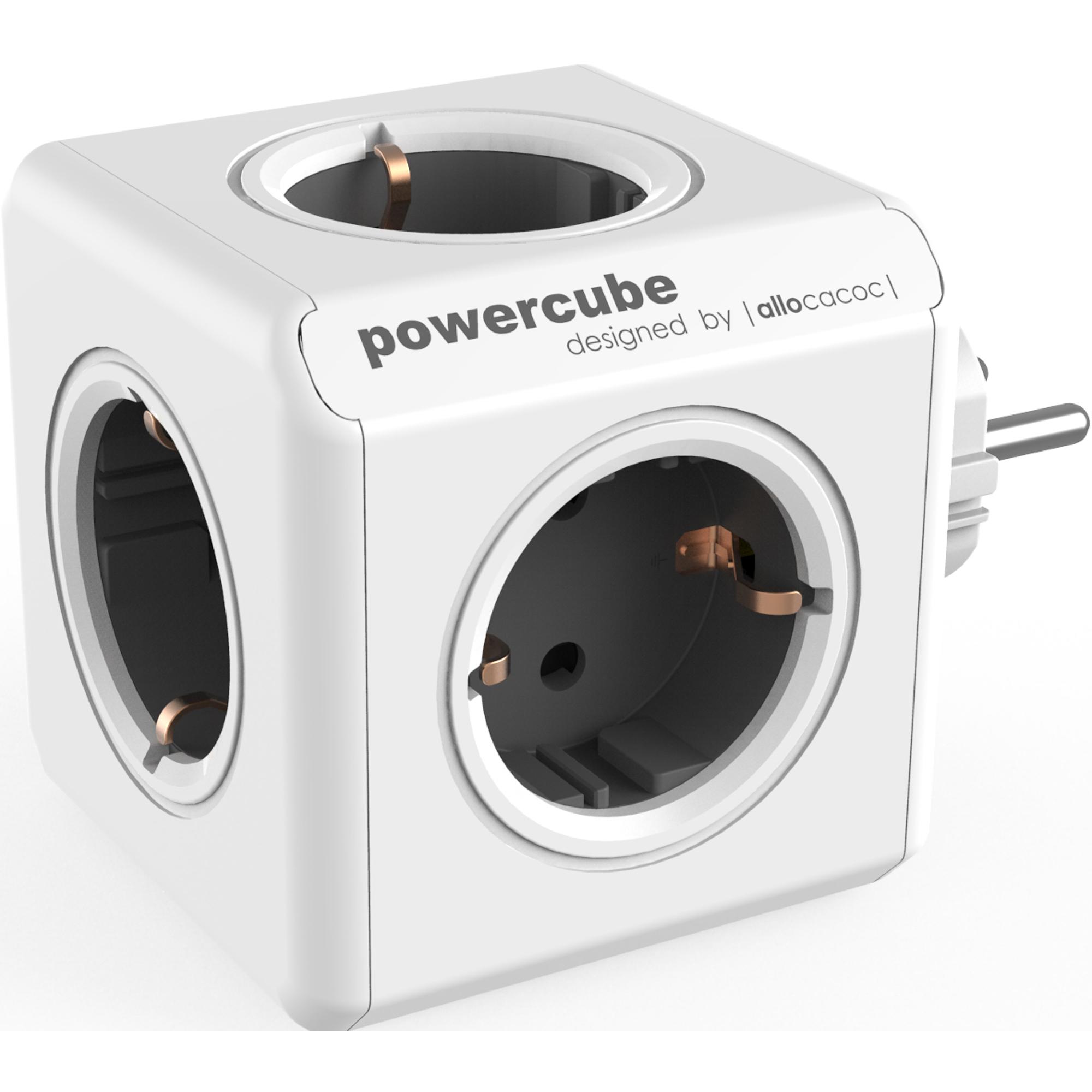 Фото - Разветвитель Allocacoc PowerCube Original USB серый разветвитель allocacoc powercube extended usb серый