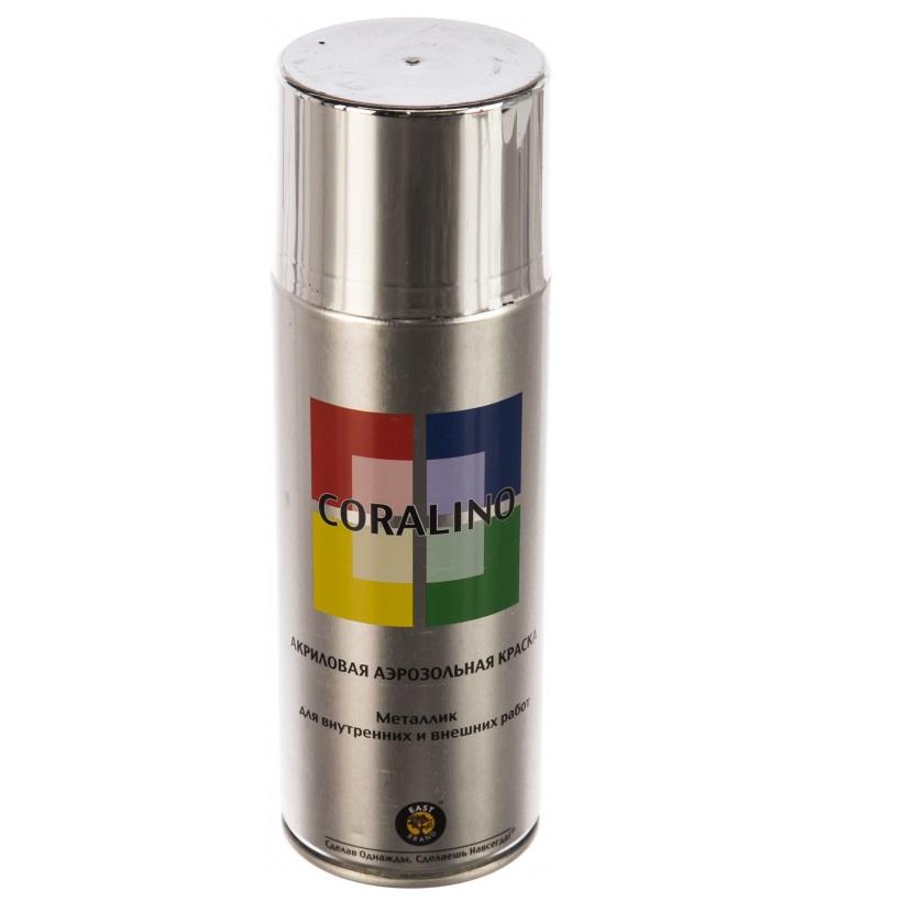 Краска Coralino c30318 металлик яркий хром 520 мл