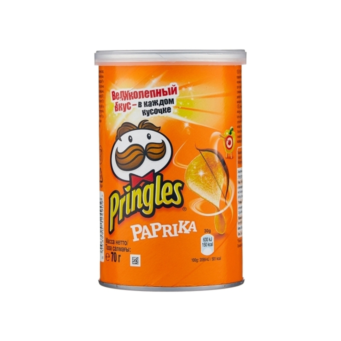 Чипсы Pringles Паприка 70 г чипсы pringles картофельные crab 70 г