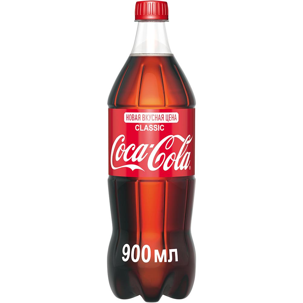 Напиток газированный Coca-Cola 0,9 л газированный напиток coca cola vanilla сша 0 355 л 12 шт