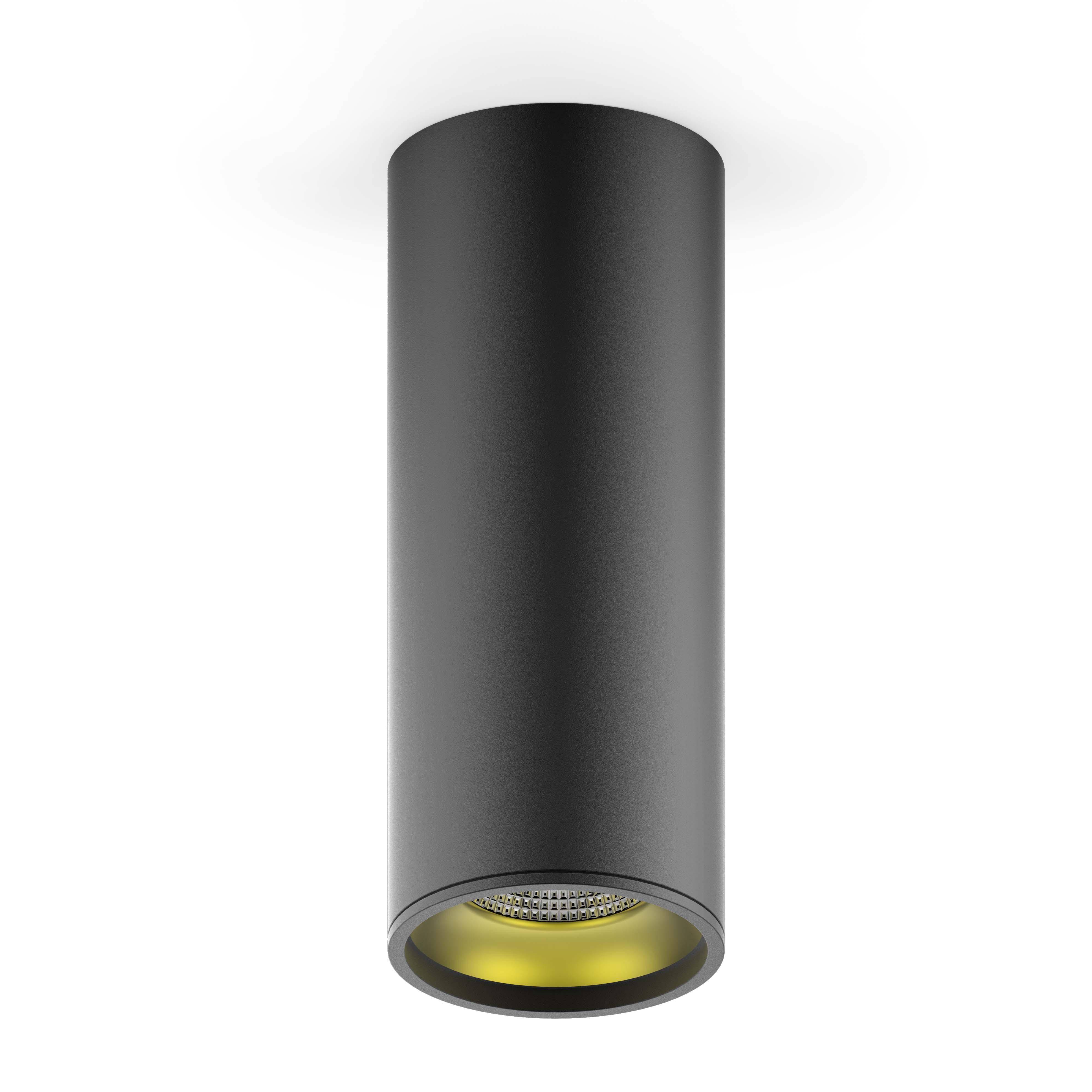 LED светильник накладной HD009 12W (черный золото) 3000K 79x200,900лм, 1/10