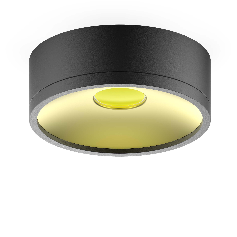 LED светильник накладной HD026 12W (черный/золото) 3000K 140х50,770лм, 1/30