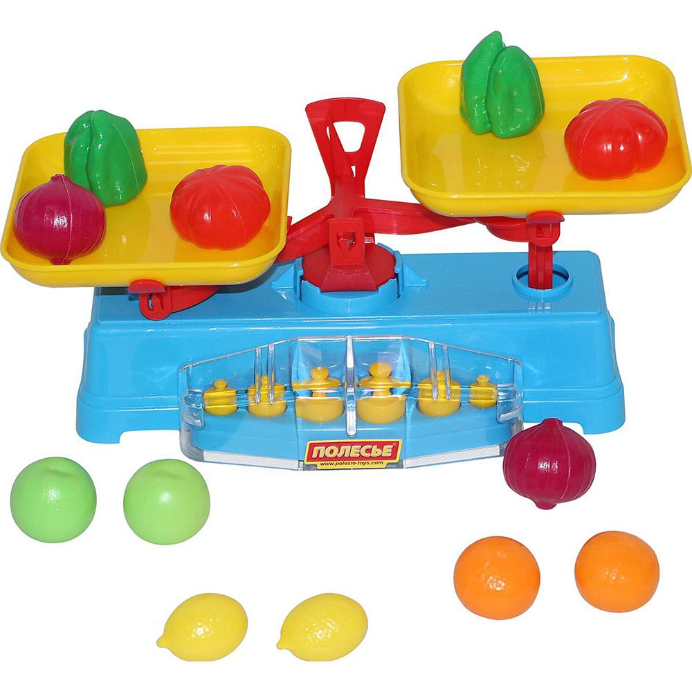 Купить Игровой набор Полесье Весы и набор продуктов 53787, разноцветный, пластик, для мальчиков, для девочек, Наборы игровые