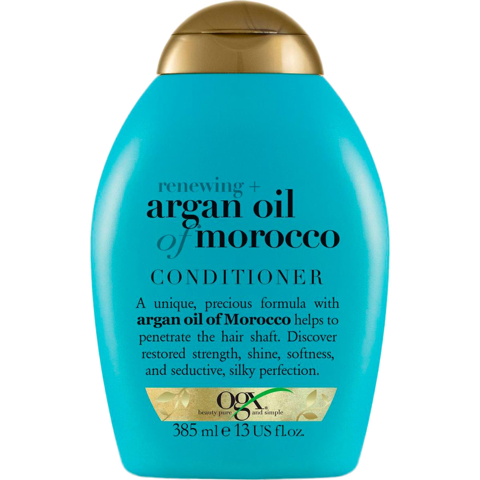 Кондиционер OGX Для восстановления волос, с аргановым маслом 385 мл кондиционер для окрашенных волос ogx с маслом орхидеи и виноградных косточек 385 мл