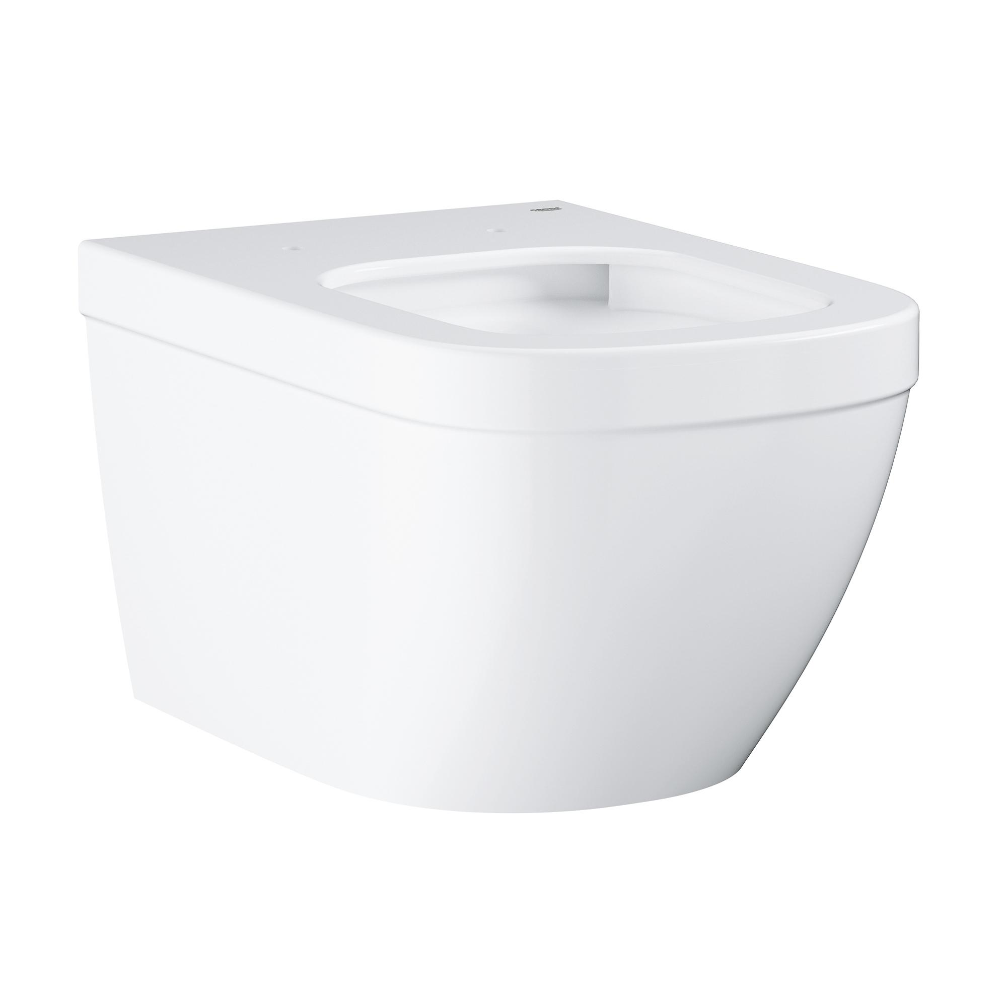 Купить Подвесной безободковый унитаз GROHE Euro Ceramic (без сиденья), альпин-белый (39328000), Унитазы подвесные, Вьетнам, сантехнический фарфор