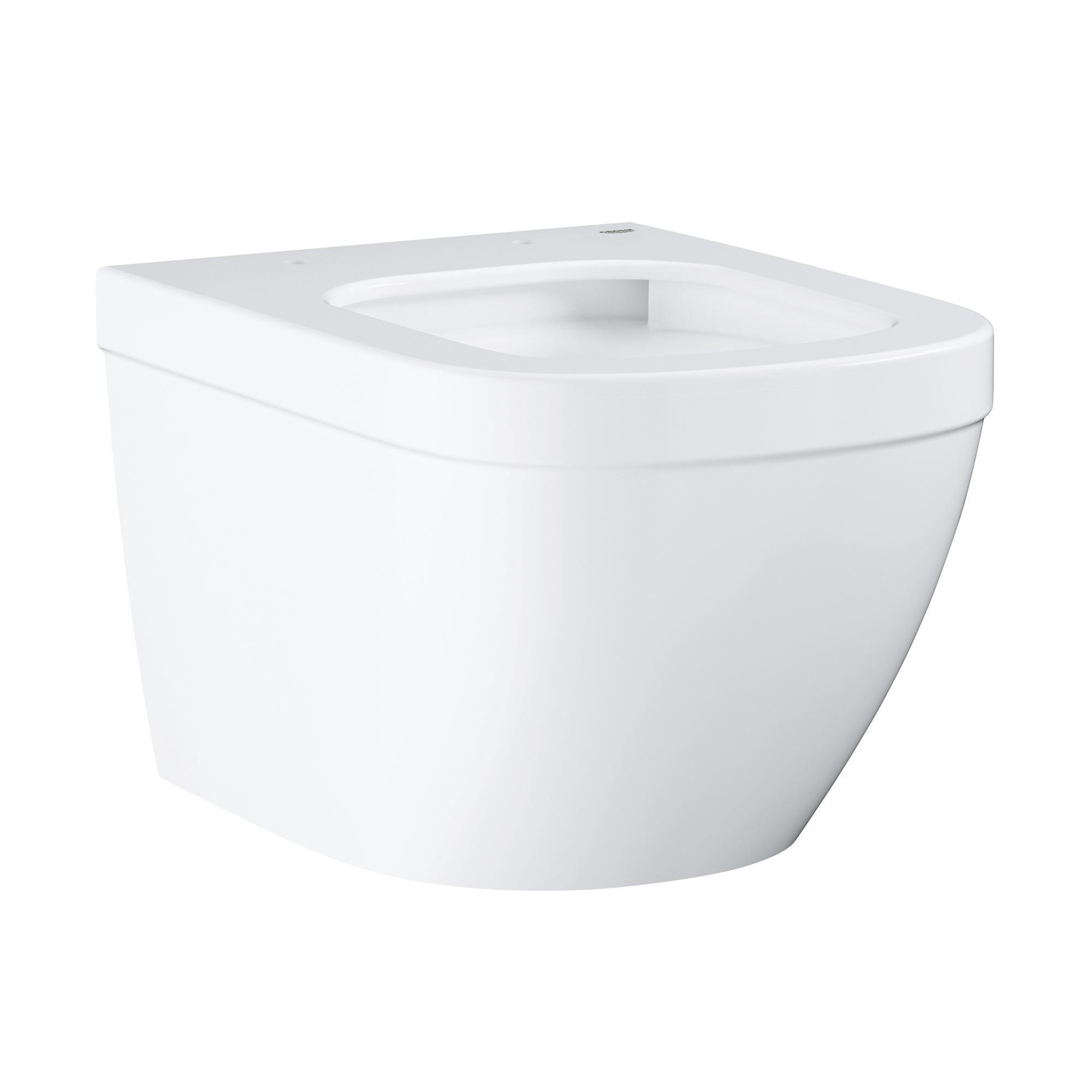 Купить Подвесной безободковый компактный унитаз GROHE Euro Ceramic, (без сиденья), альпин-белый (39206000), Унитазы подвесные, Вьетнам, сантехнический фарфор