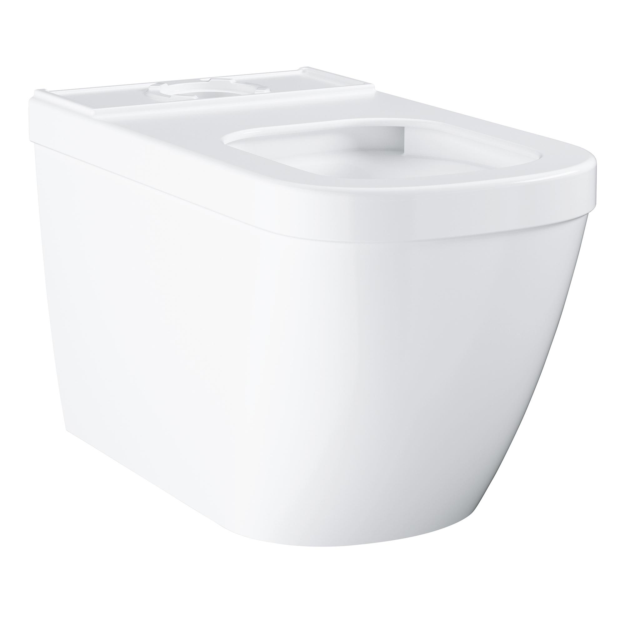 Фото - Напольный безободковый унитаз GROHE Euro Ceramic (без бачка и сиденья), альпин-белый (39338000) подвесной безободковый компактный унитаз grohe euro ceramic без сиденья альпин белый 39206000