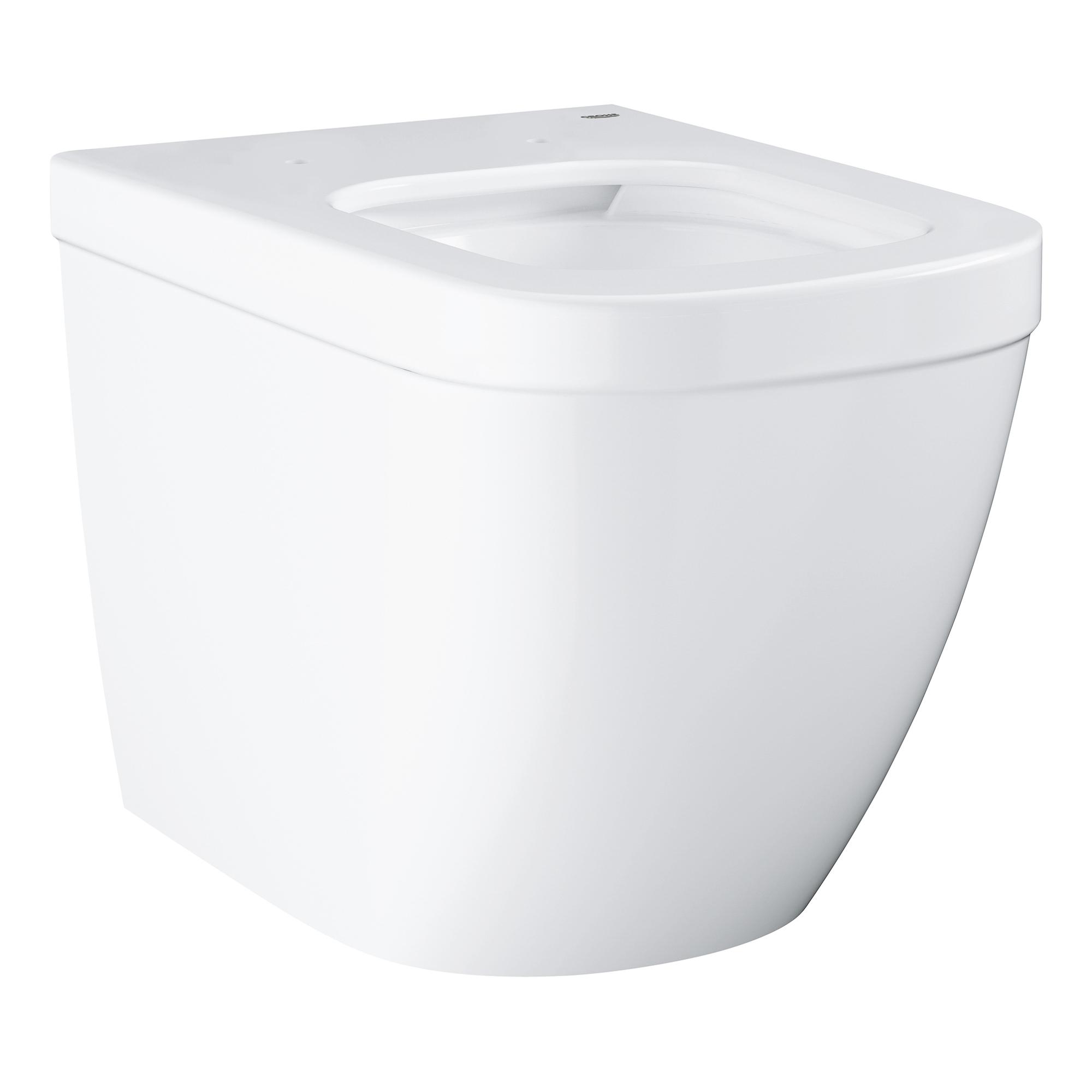 Купить Напольный приставной безободковый унитаз GROHE Euro Ceramic (без сиденья), альпин-белый (39339000), Унитазы напольные, Вьетнам, сантехнический фарфор