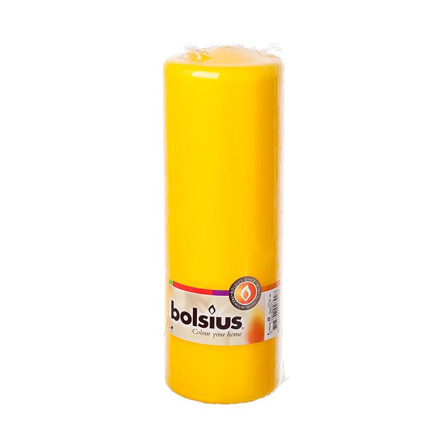 Фото - Свеча-столбик Bolsius 20x7 желтая свеча столбик bolsius 12x6 коричневая