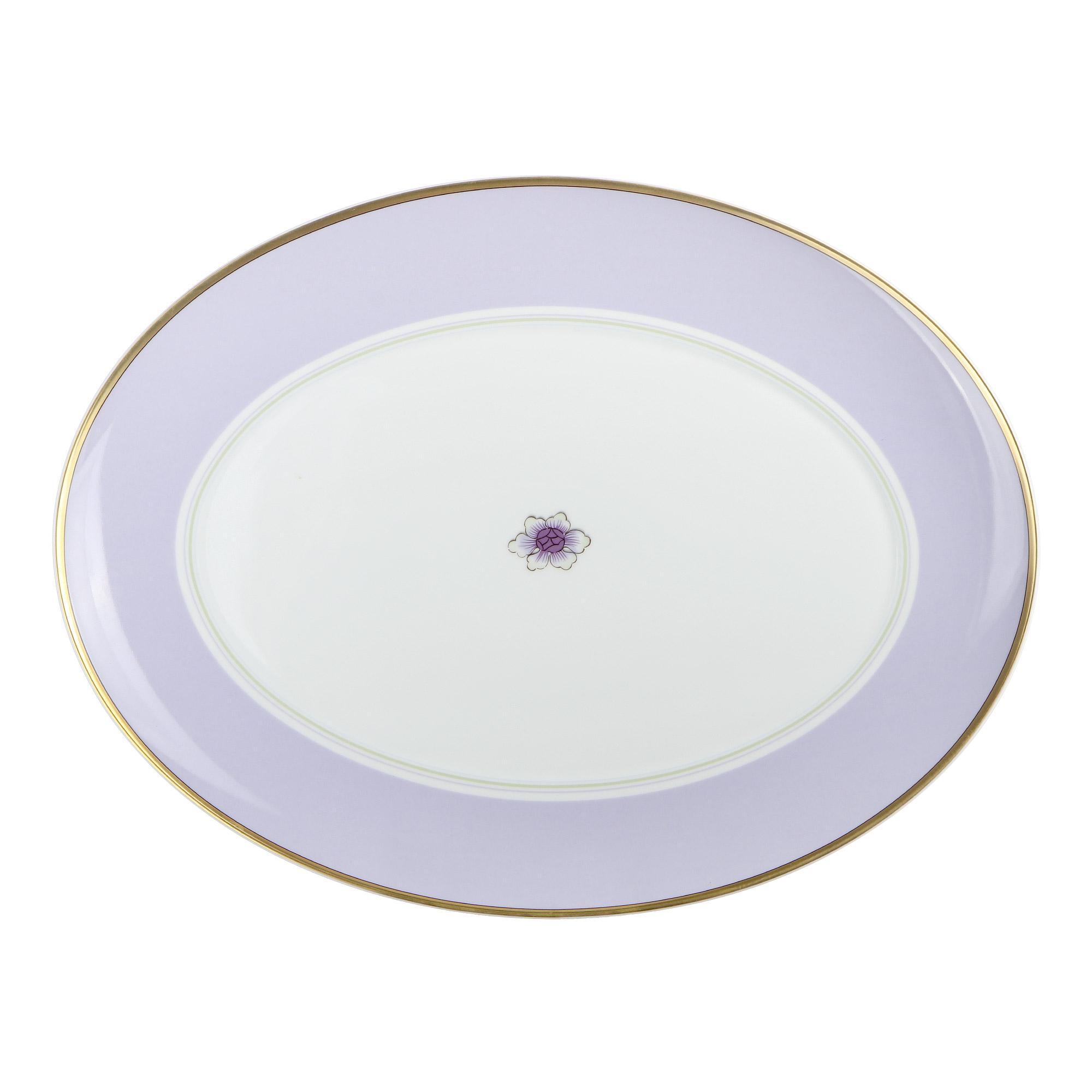 Фото - Блюдо овальное Vista Alegre Avalon фарфор 42 см стакан 160 мл синий acn21 003079573006 vista alegre