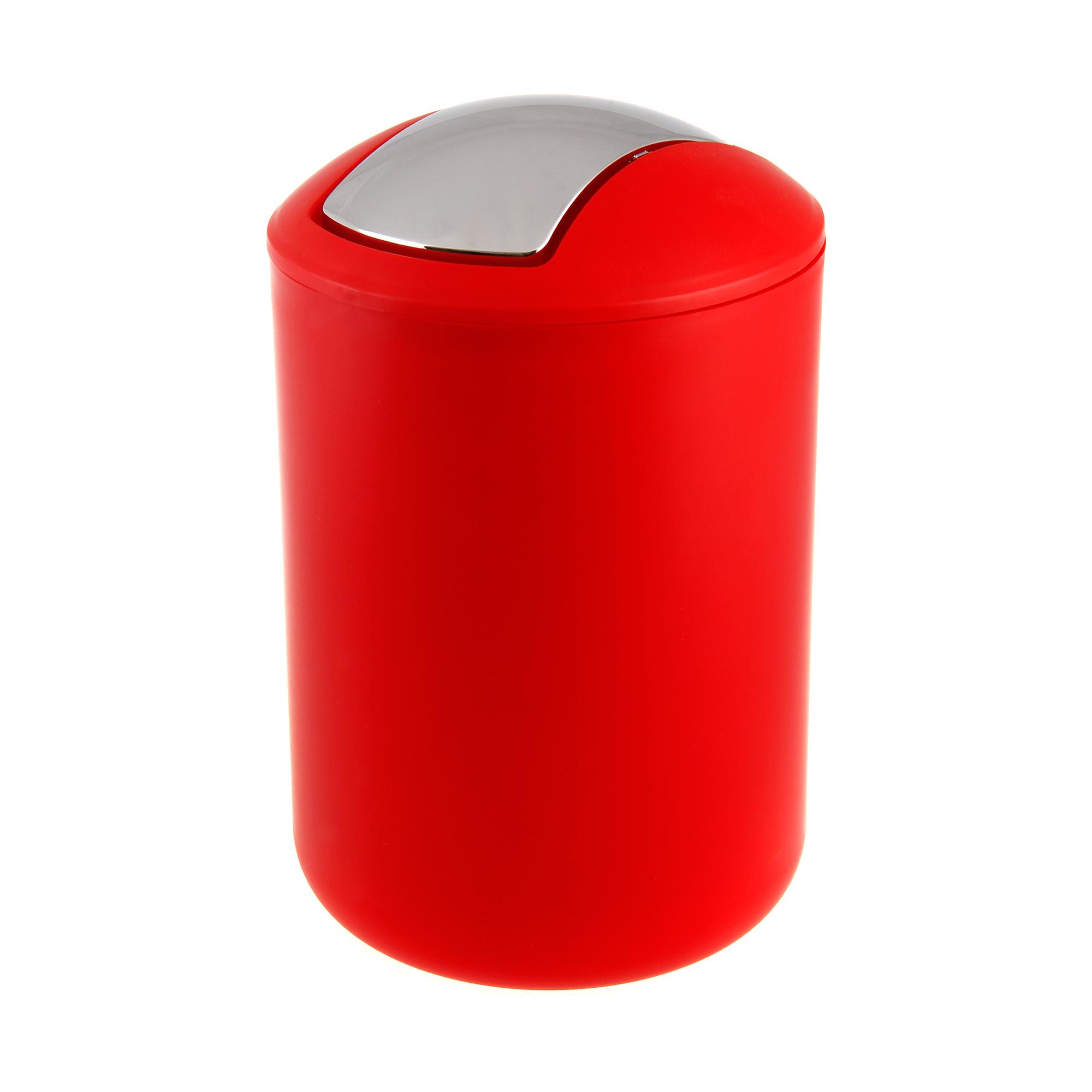Ведро мусорное WENKO brasil l красное 6.5 л