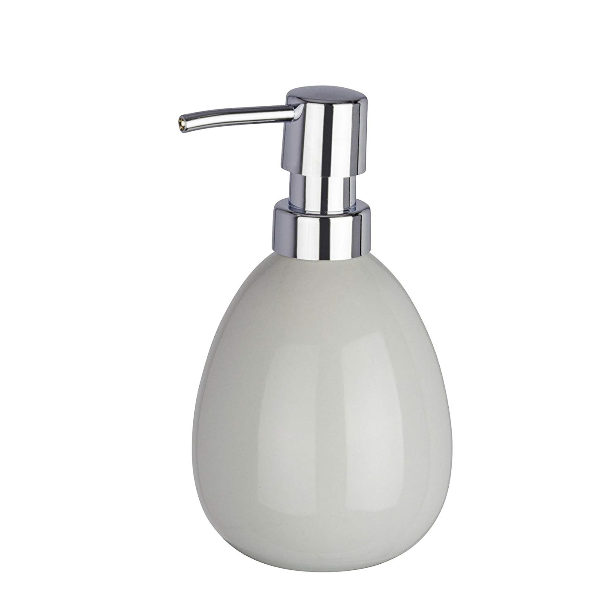 Купить Дозатор для мыла Wenko Polaris grey 390 мл, Wenko sanitary, дозатор, Китай, серый, керамика
