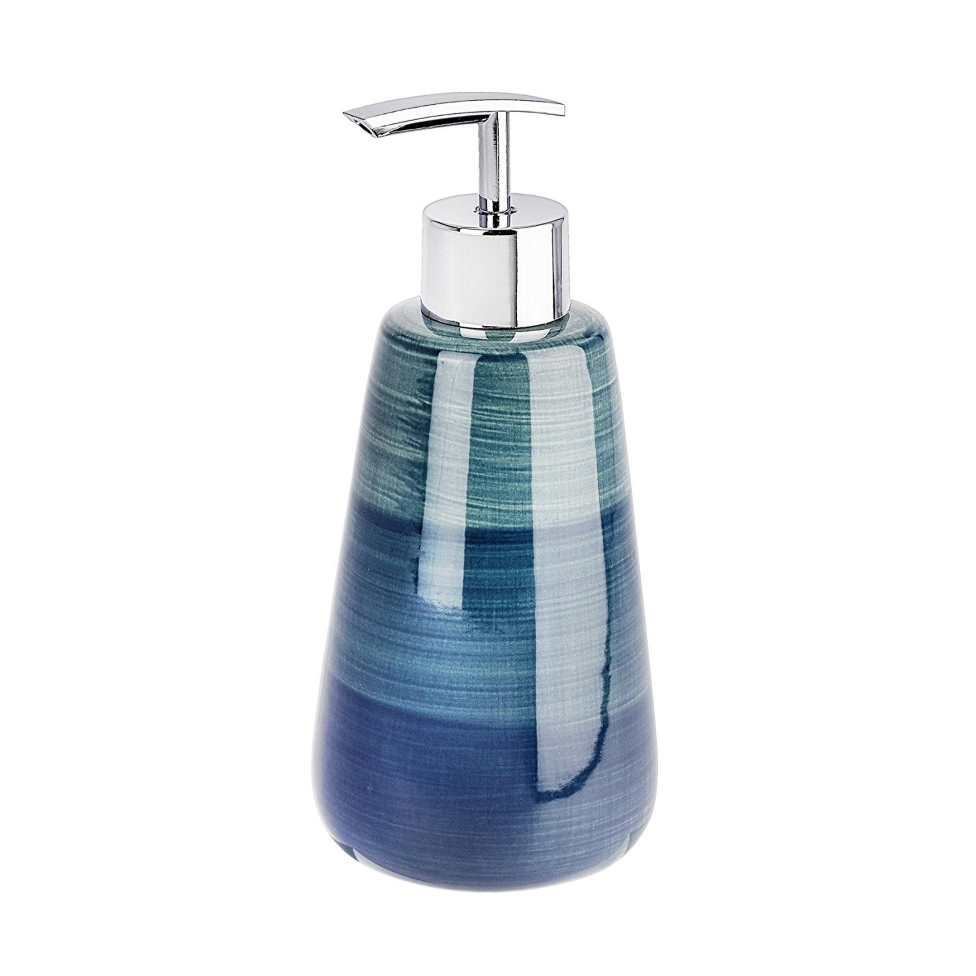 Дозатор для мыла Wenko Pottery petrol дозатор для мыла wenko sanitary goa бежевый