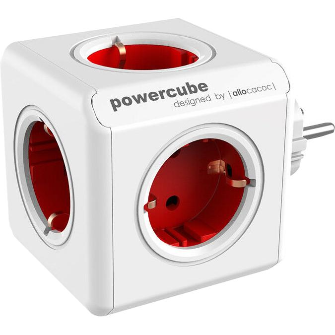 Фото - Разветвитель Allocacoc PowerCube Original красный 1100RD разветвитель allocacoc powercube extended usb серый