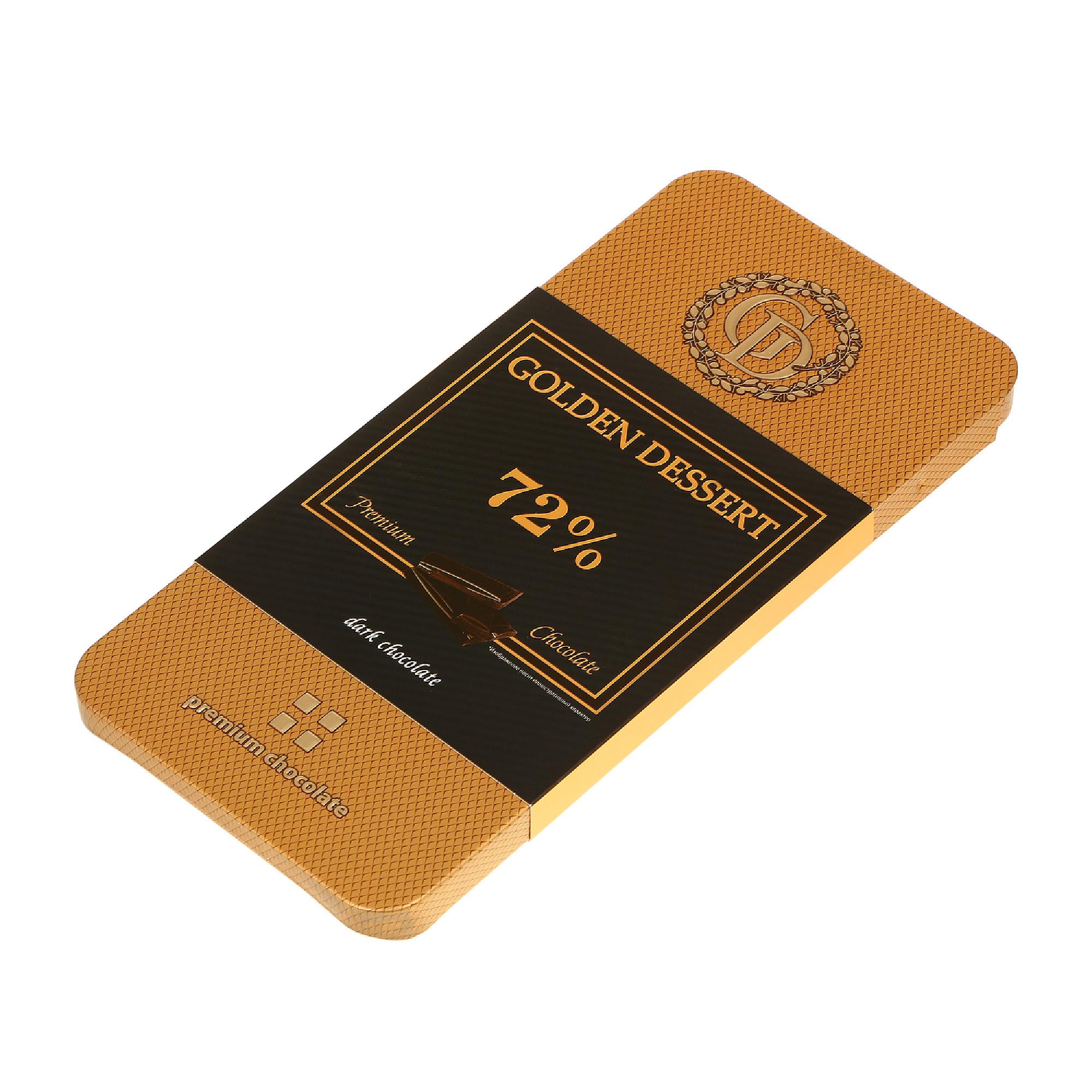 шоколад villars 72% горький 100 г Шоколад горький GOLDEN DESSERT 72% 100 г