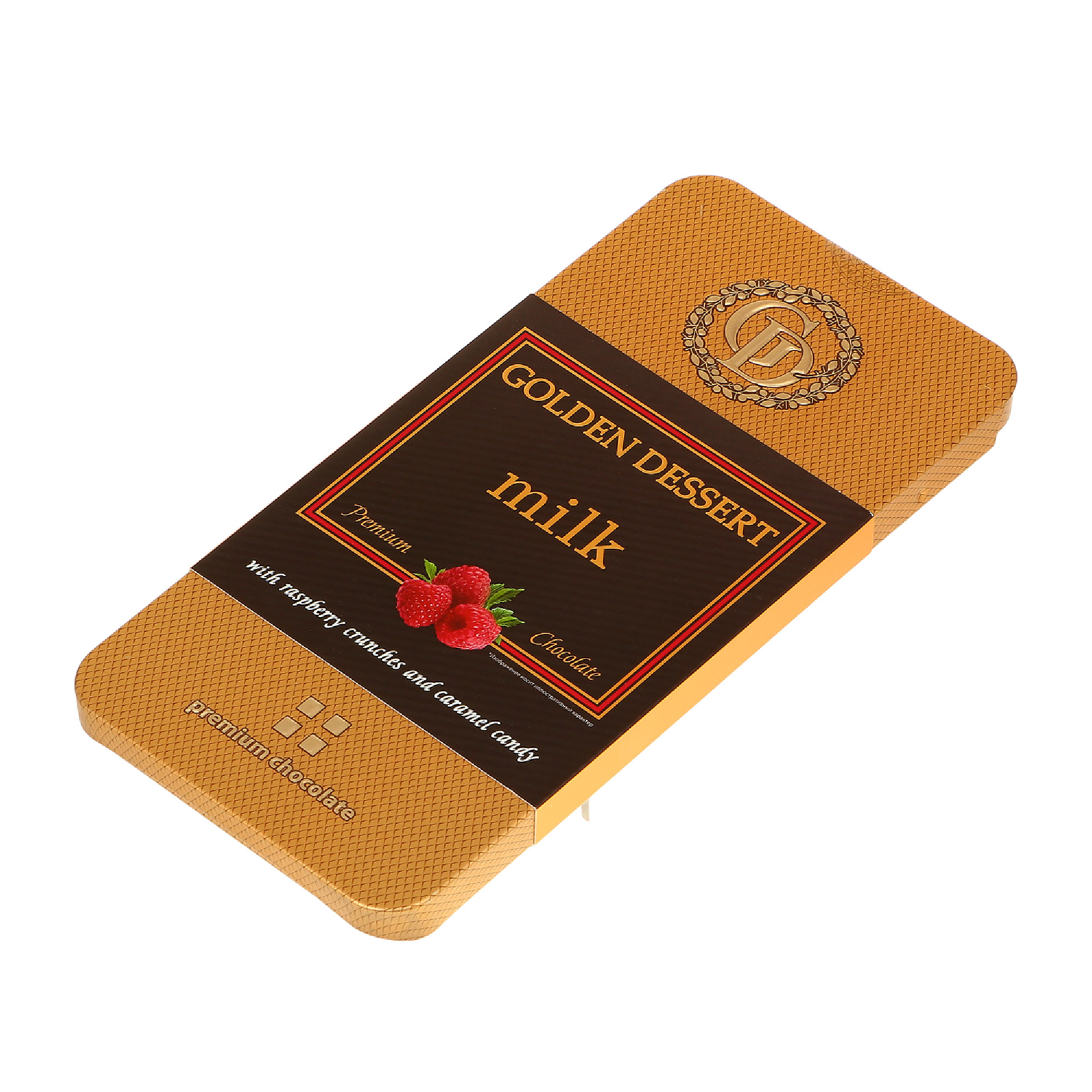 шоколад горький golden dessert 72% 100 г Шоколад молочный GOLDEN DESSERT milk с малиной 100 г