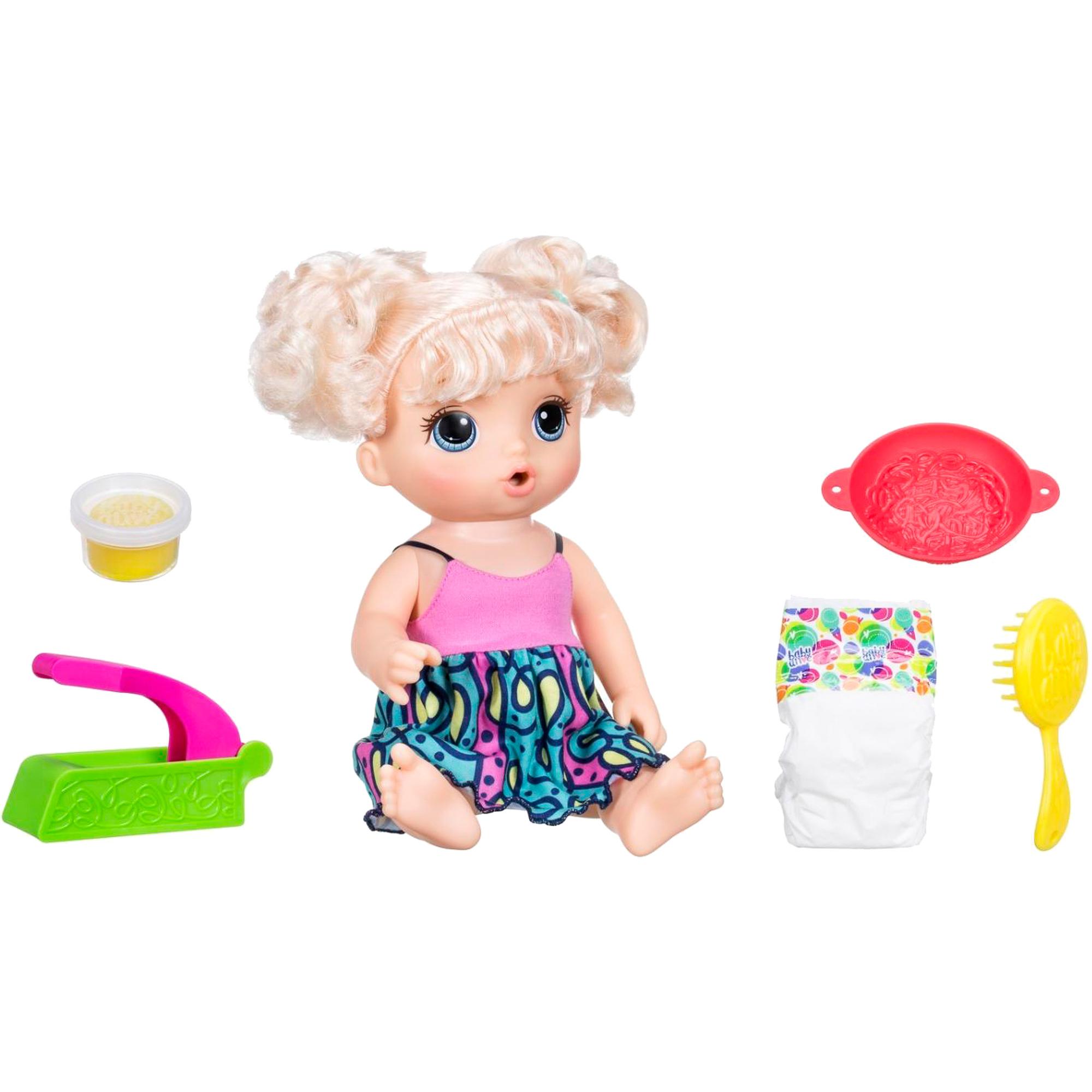 Кукла Hasbro Baby Alive Малышка и лапша 33 см фото