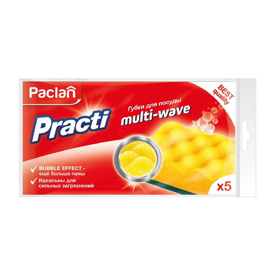 Губки для посуды Paclan Practi Multi-Wave 5 шт.