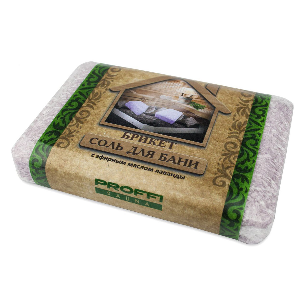 Соль для ванны и бани PROFFI SAUNA Соль морская с маслом лаванды 750 г фото