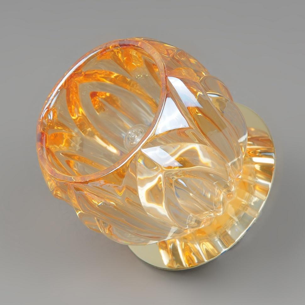 Светильник точечный 1283 gd amber g9 Elvan светильник точечный675 cl gd elvan