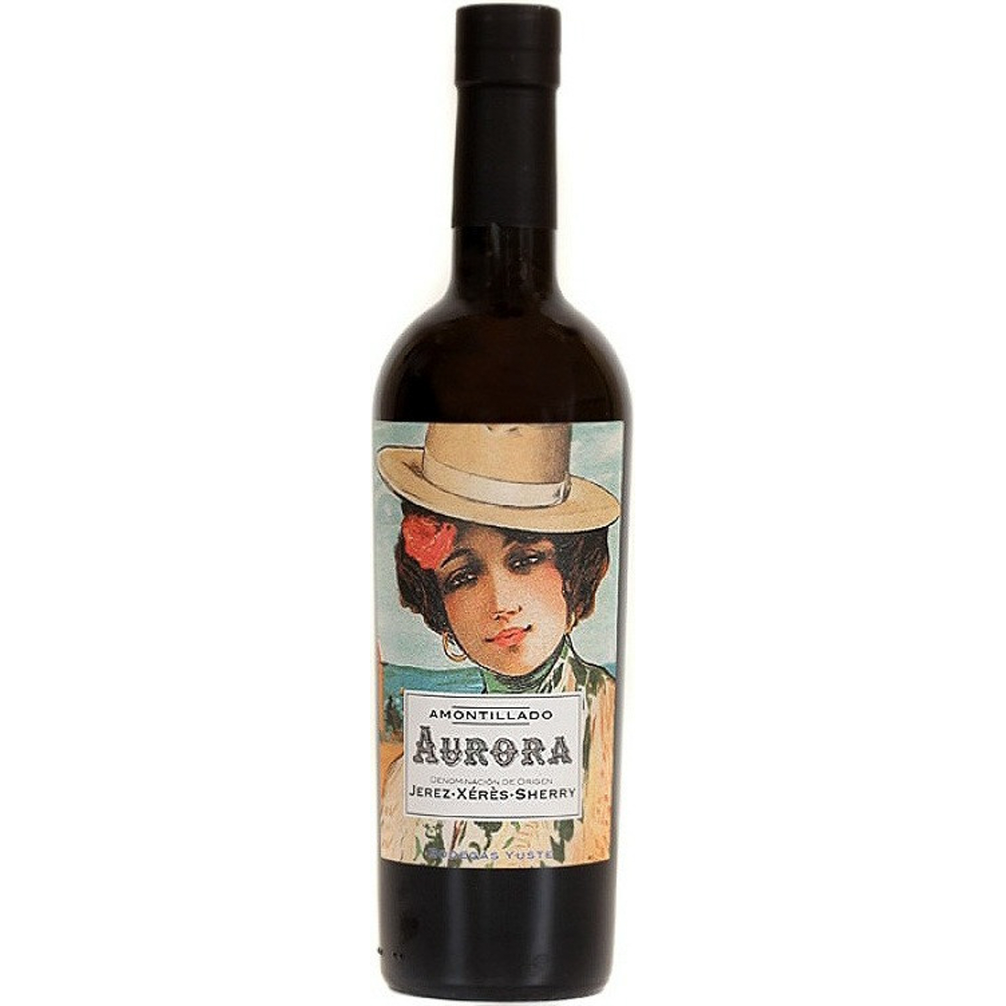 Купить Херес сухой Bodegas Yuste Aurora Amontillado Jerez DO 0, 5 л, Вино, Испания, Янтарный