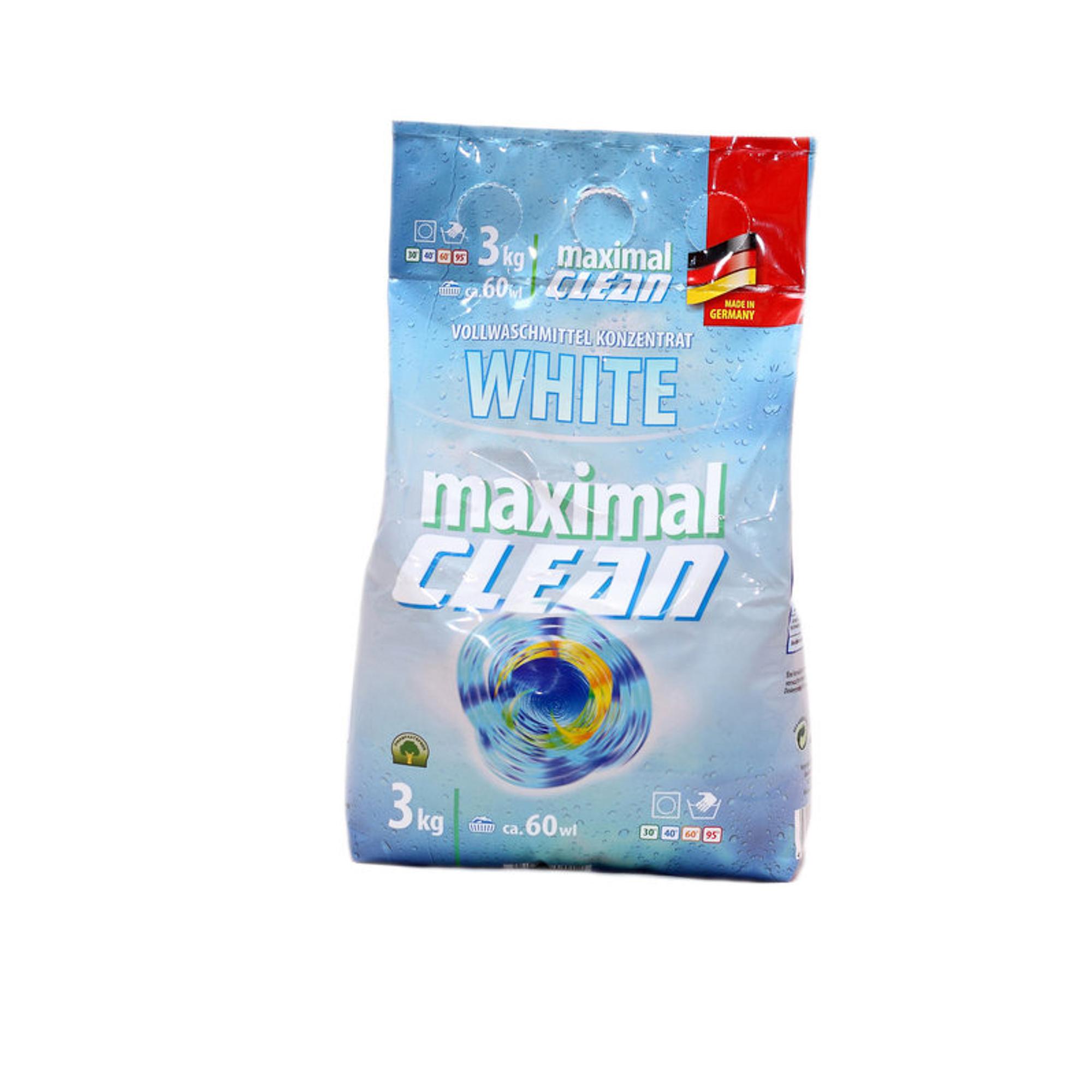 Стиральный порошок Maximal Clean White 3 кг