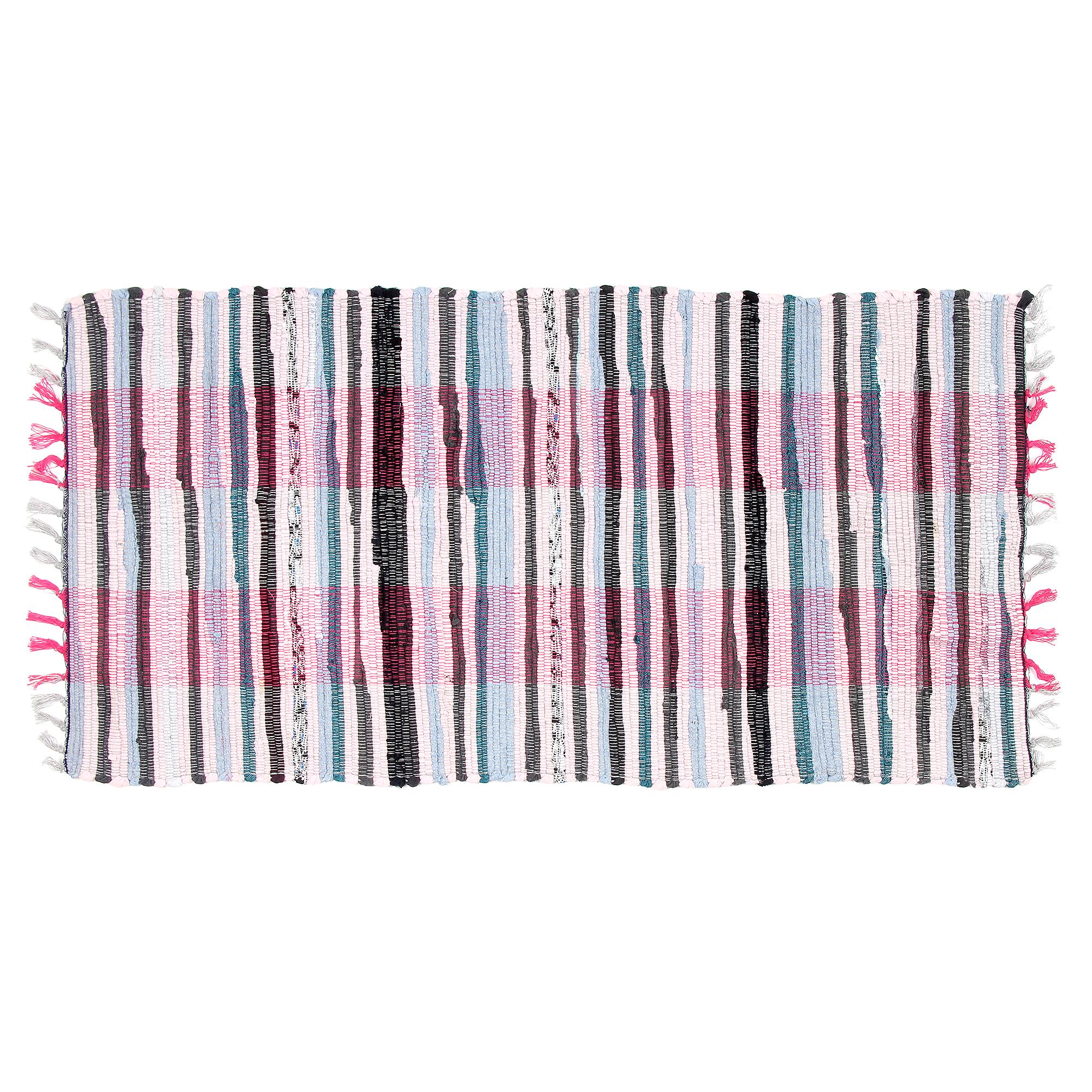 Купить Коврик лоскутный хлопковый Sindbad 6022 55х110 см, коврик придверный, Индия, хлопок