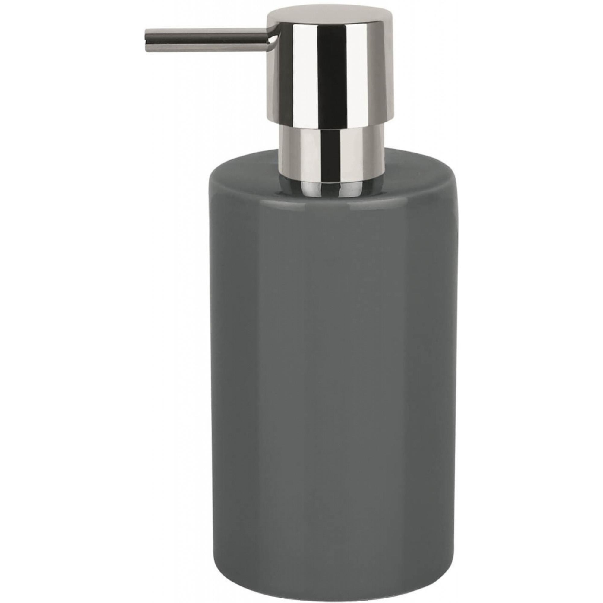 Фото - Дозатор для жидкого мыла Spirella Tube серый дозатор для жидкого мыла spirella sydney серый 7х18 5 см