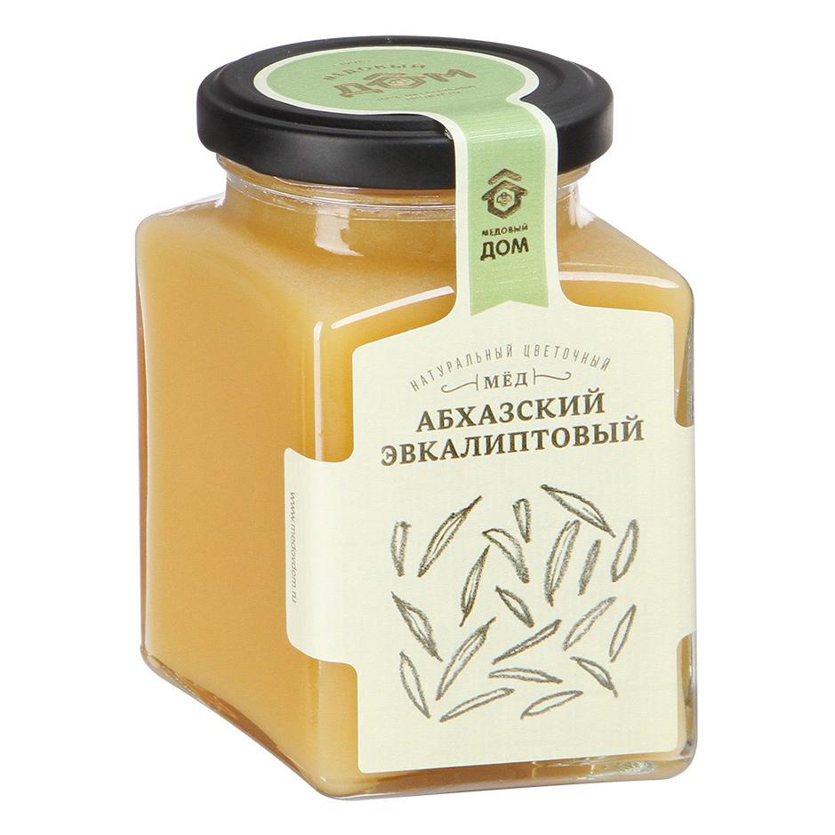 Мед натуральный Медовый дом Абхазский Эвкалиптовый 320 г