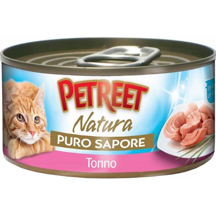 Купить Корм для кошек Petreet Тунец в рыбном супе 70 г, влажный корм