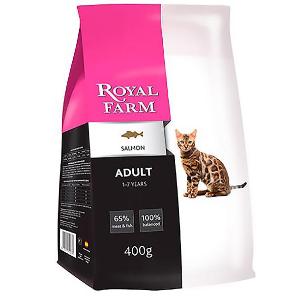 Корм для кошек ROYAL FARM лосось 400г фото